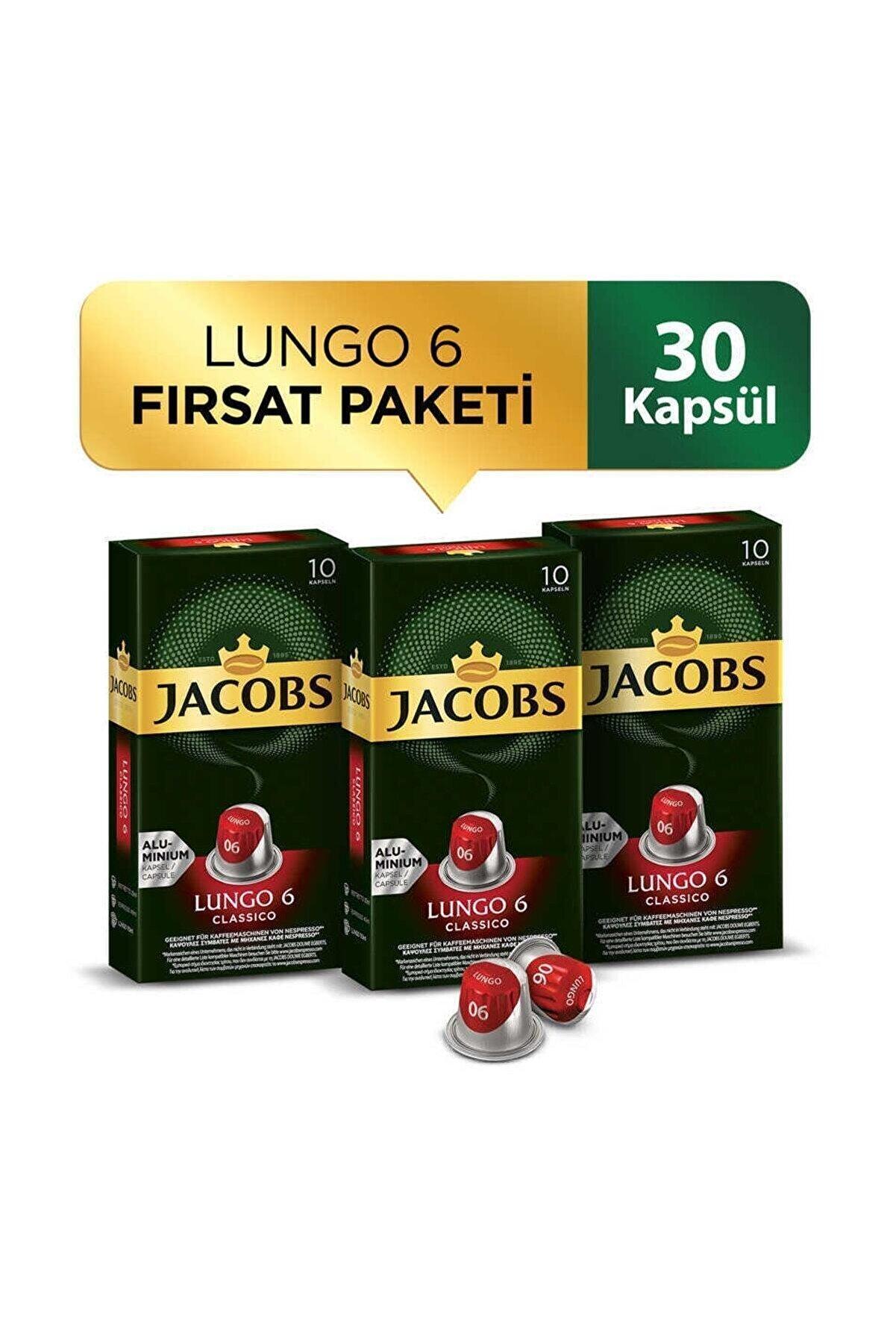 Jacobs Lungo 6 Classico Kapsül Kahve 30 Kapsül