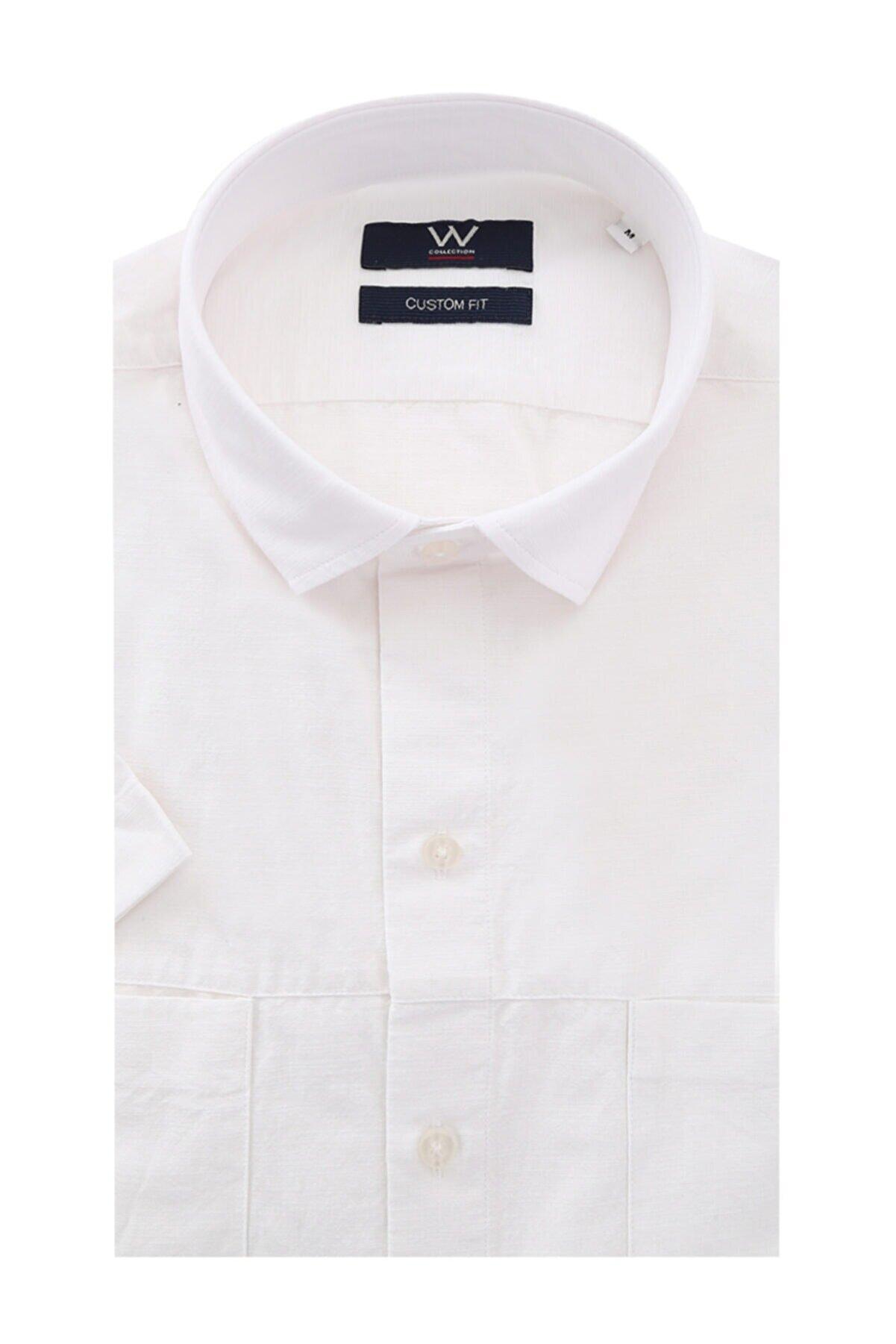 W Collection Beyaz Cepli Gömlek