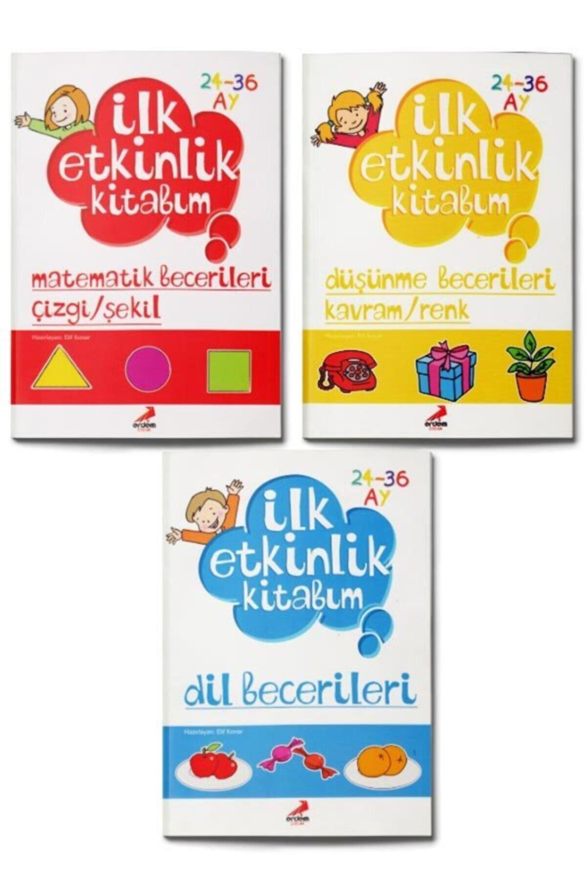 Erdem Yayınları Ilk Etkinlik Kitabım Seti 3 Kitap +