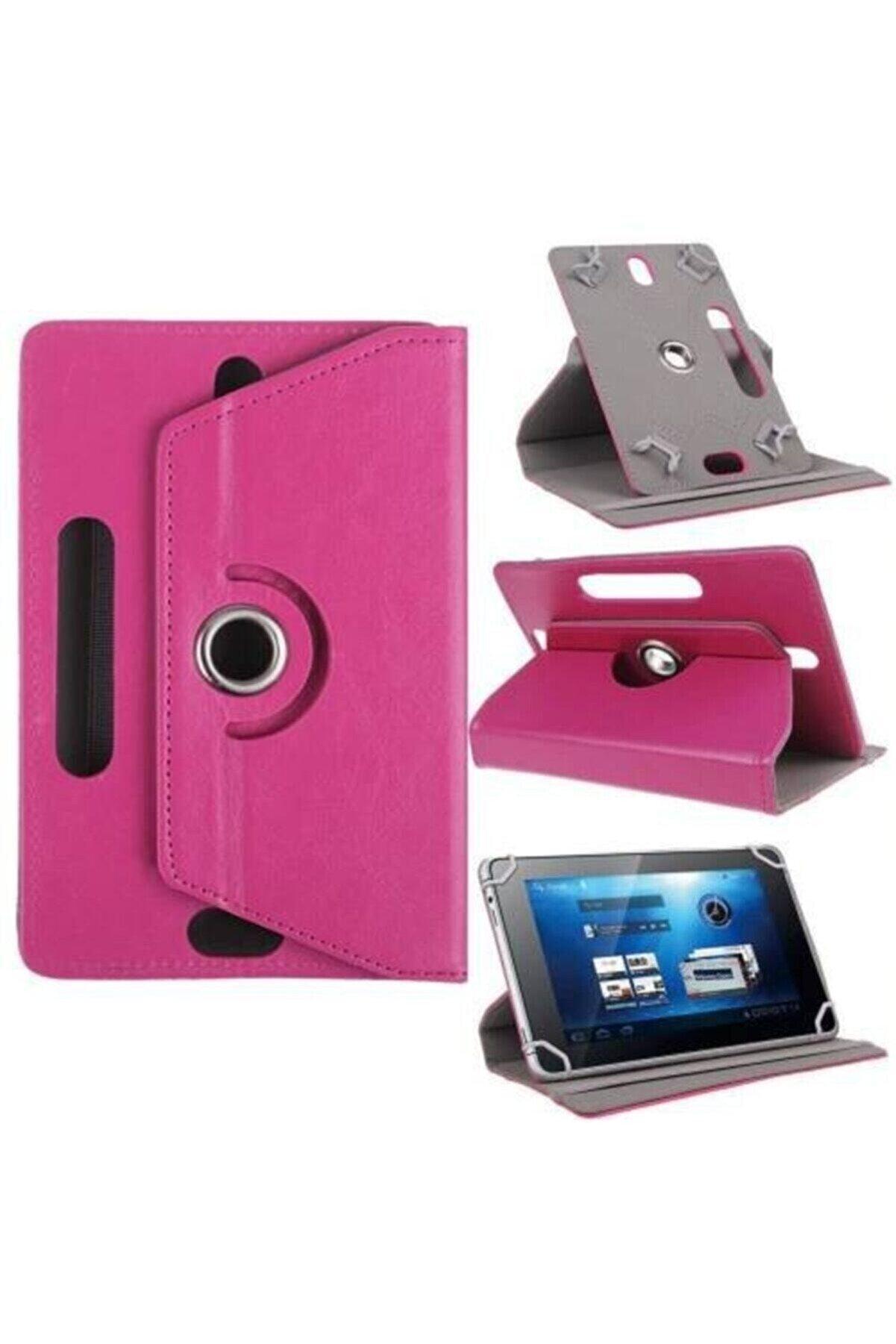 KılıfShop Mobillan Iletişim Pembe Hometech Alfa 7m 7'' Inç Üniversal Stand Olabilen Tablet Kılıf