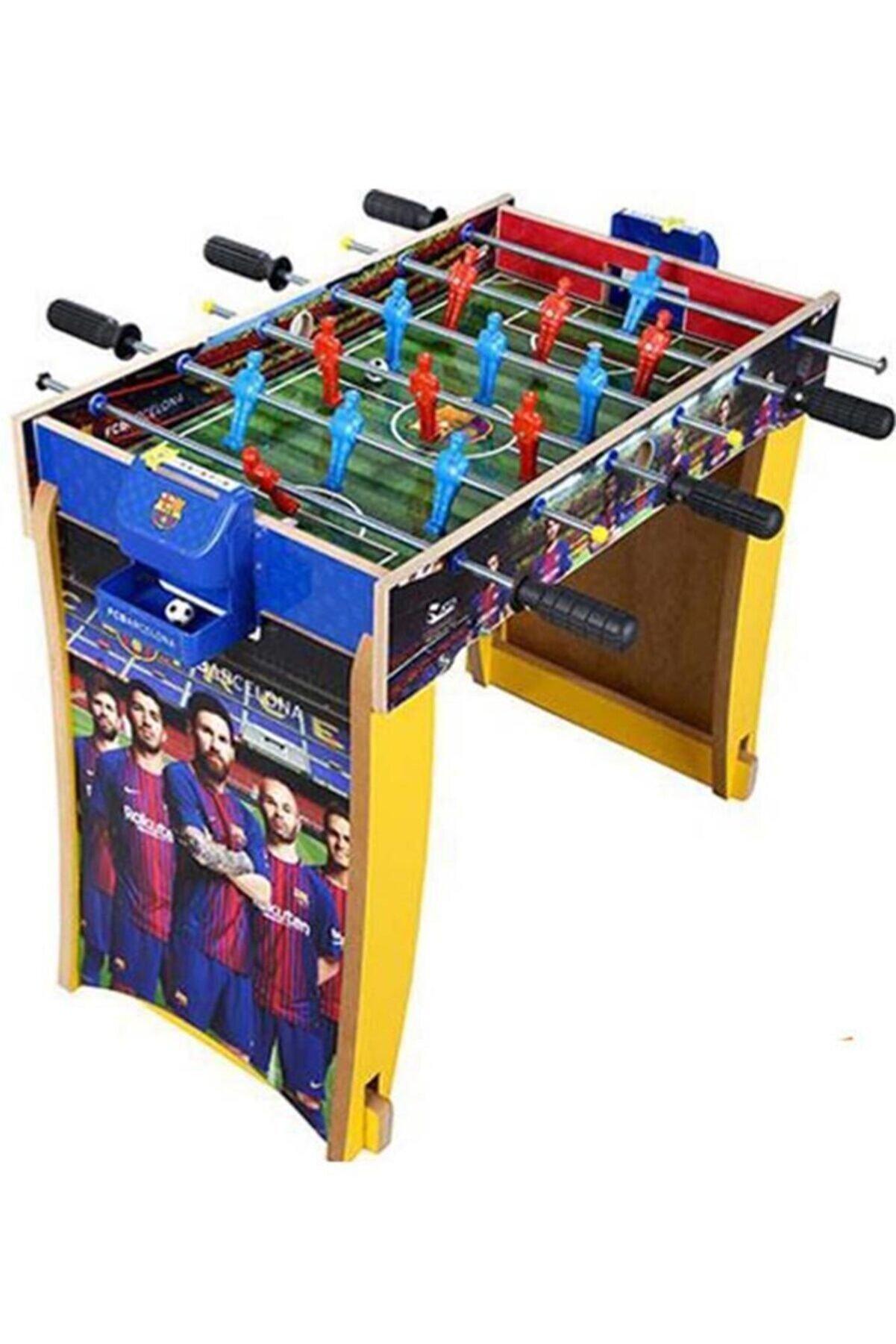 Liggo Barcelona Süper Masa Maçı Ahşap Ayaklı Langırt Fc804