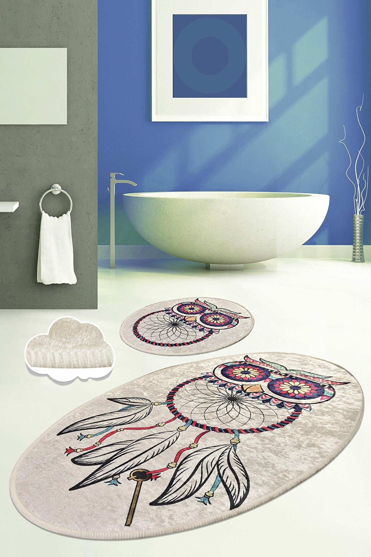 Chilai Home DREAM DJT 2 LI SET Banyo Halısı