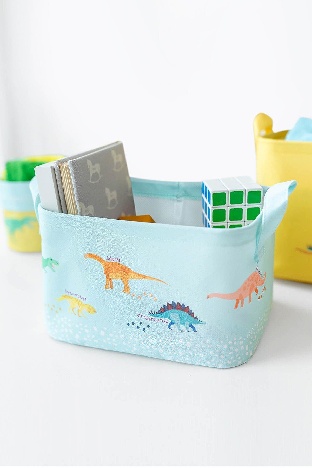 Ocean Home Dinozor Çocuk Odası Sepeti // 24x17x14