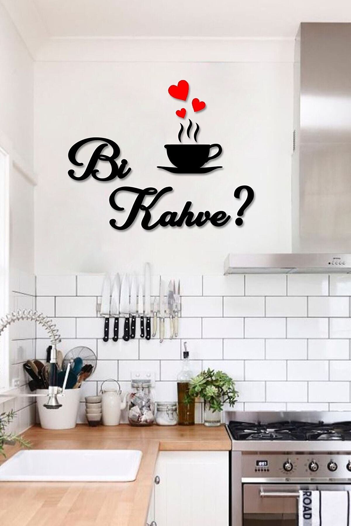 Taktakicat Kahve Ahşap Dekoratif Mutfak Duvar Tablosu