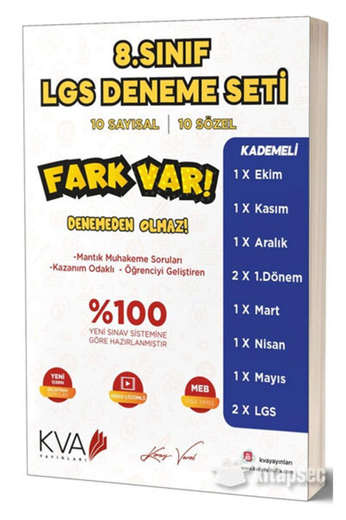 Koray Varol Yayınları Kva Fark Var Lgs 10 Lu Deneme Koray Varol