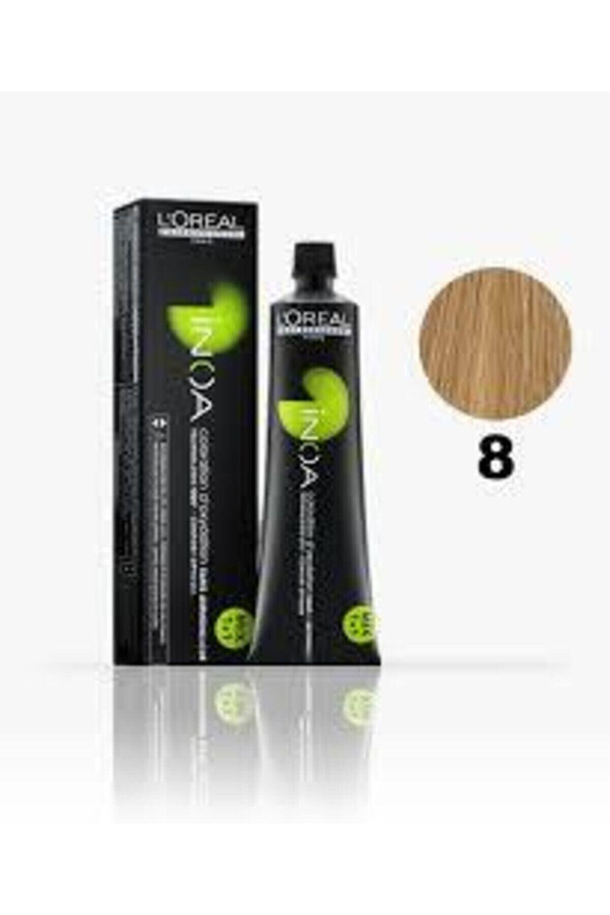 İNOA 8 Numara Açık Kumral Saç Boyası 60 ml (oksidansız)