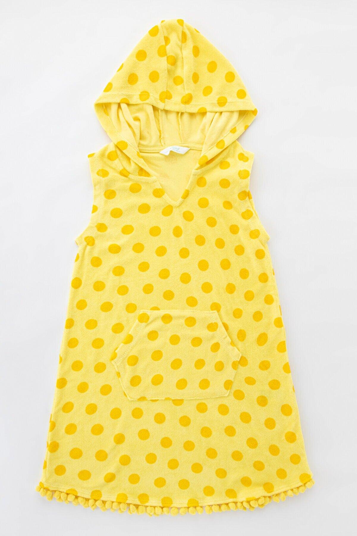 Penti Kız Çocuk Lime Spot Knotted Elbise