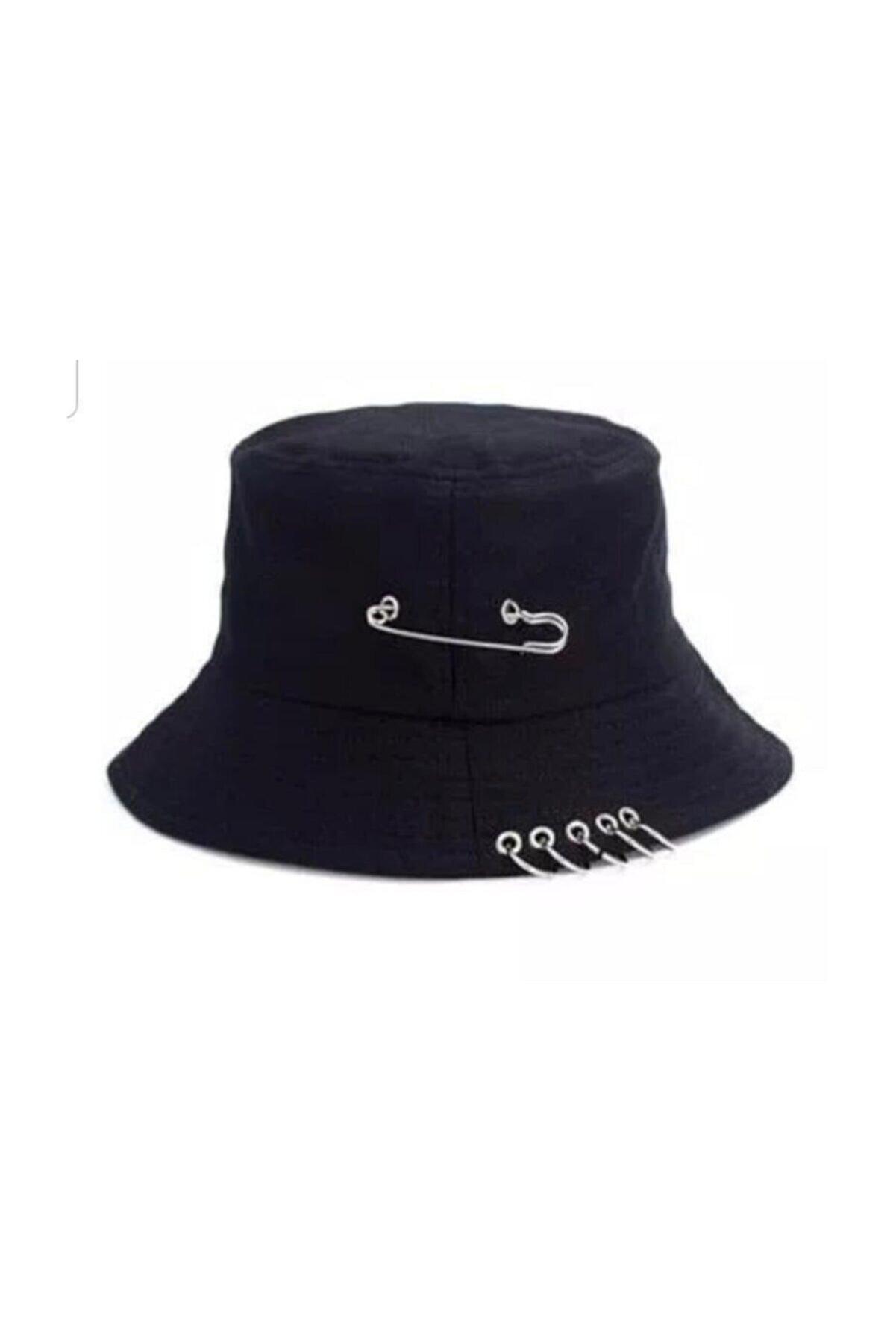 Köstebek K-pop Piercing Ve Çengelli Iğne Modelli Yazlık Şapka