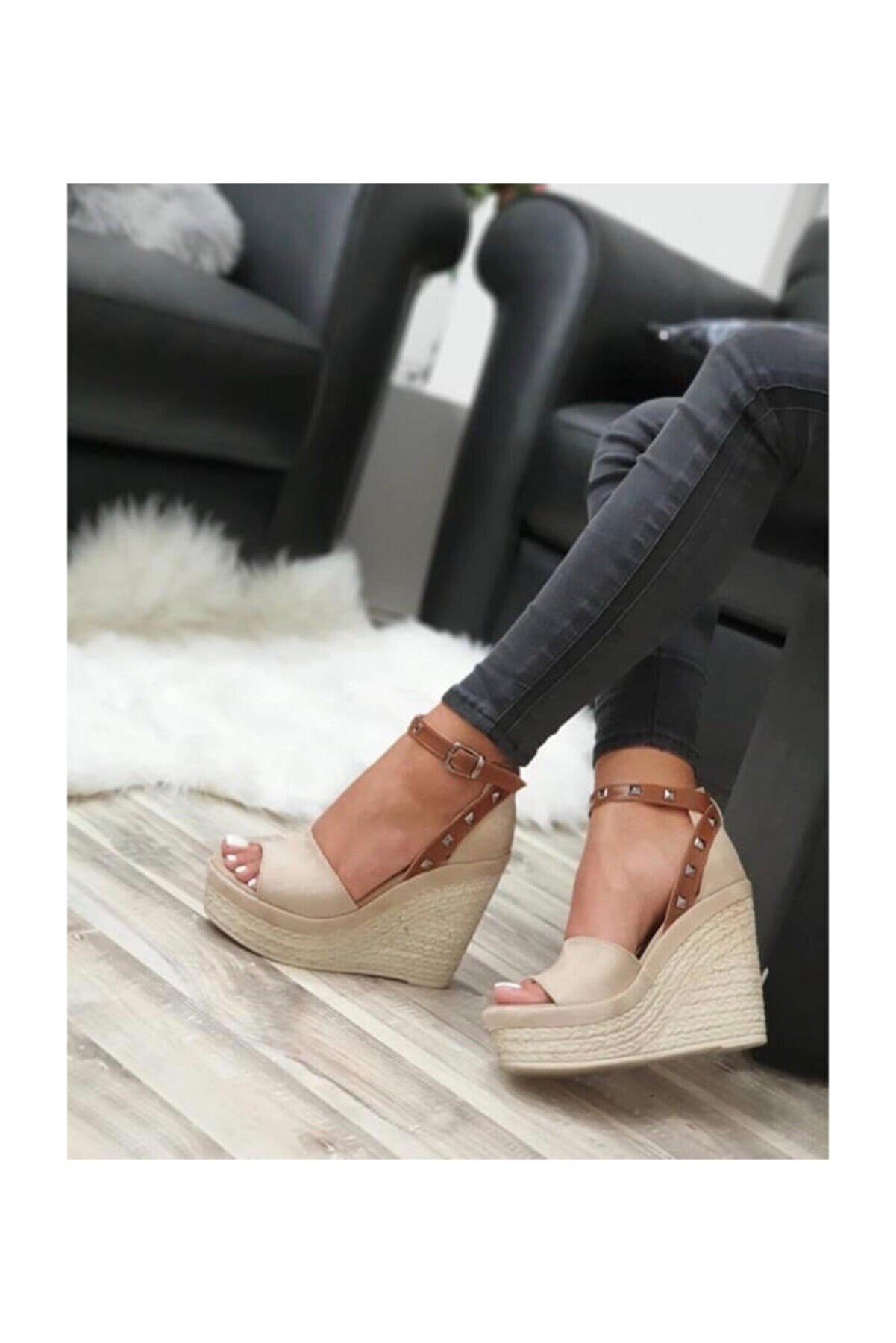 Shoe Miss Emma Ten Dolgu Topuk