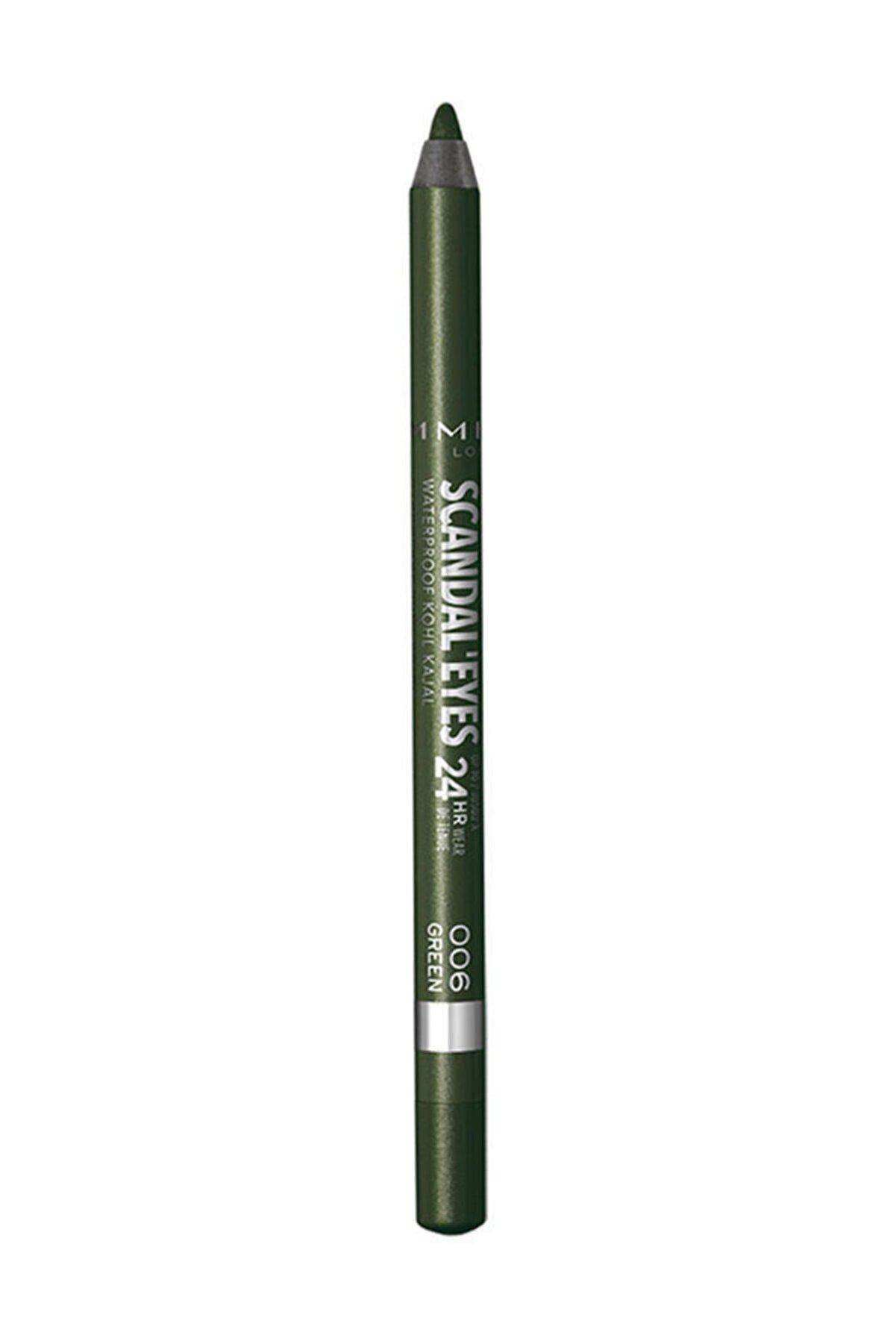 Rimmel London Yeşil Eyeliner - Scandal'Eyes Kohl Kajal Green 3614224079574