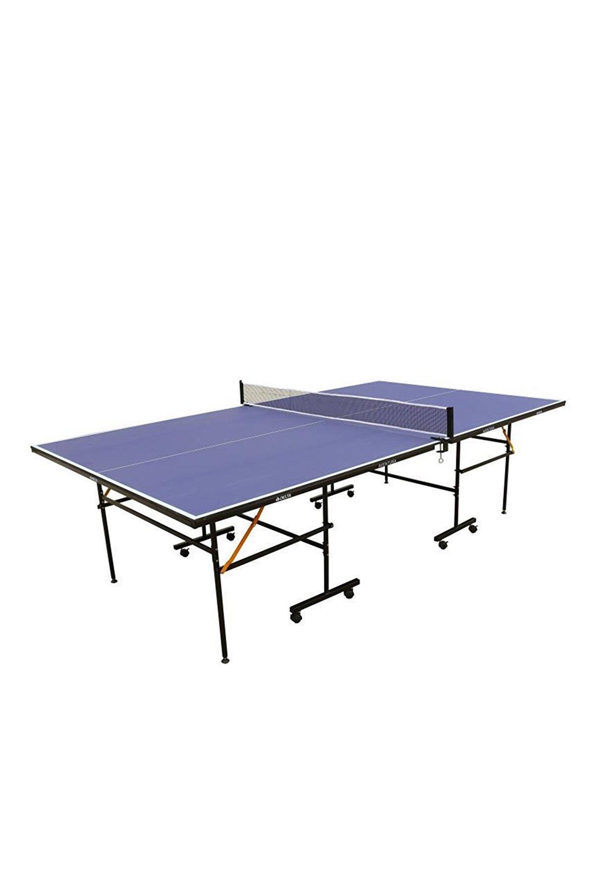 Delta Aventura Mavi Masa Tenisi Masası Ağ-Demir + 2 Raket + 3 Top