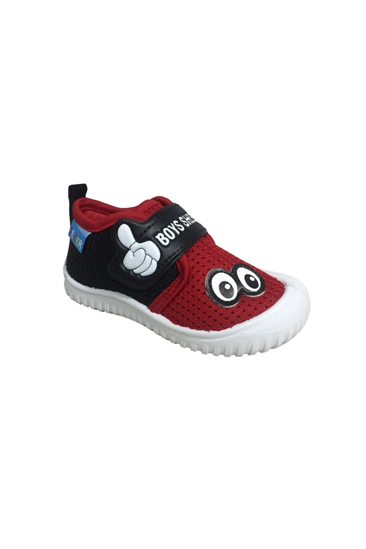 Gezer Erkek Bebek Kırmızı 3034 Keten Anaokulu Kreş Ayakkabısı