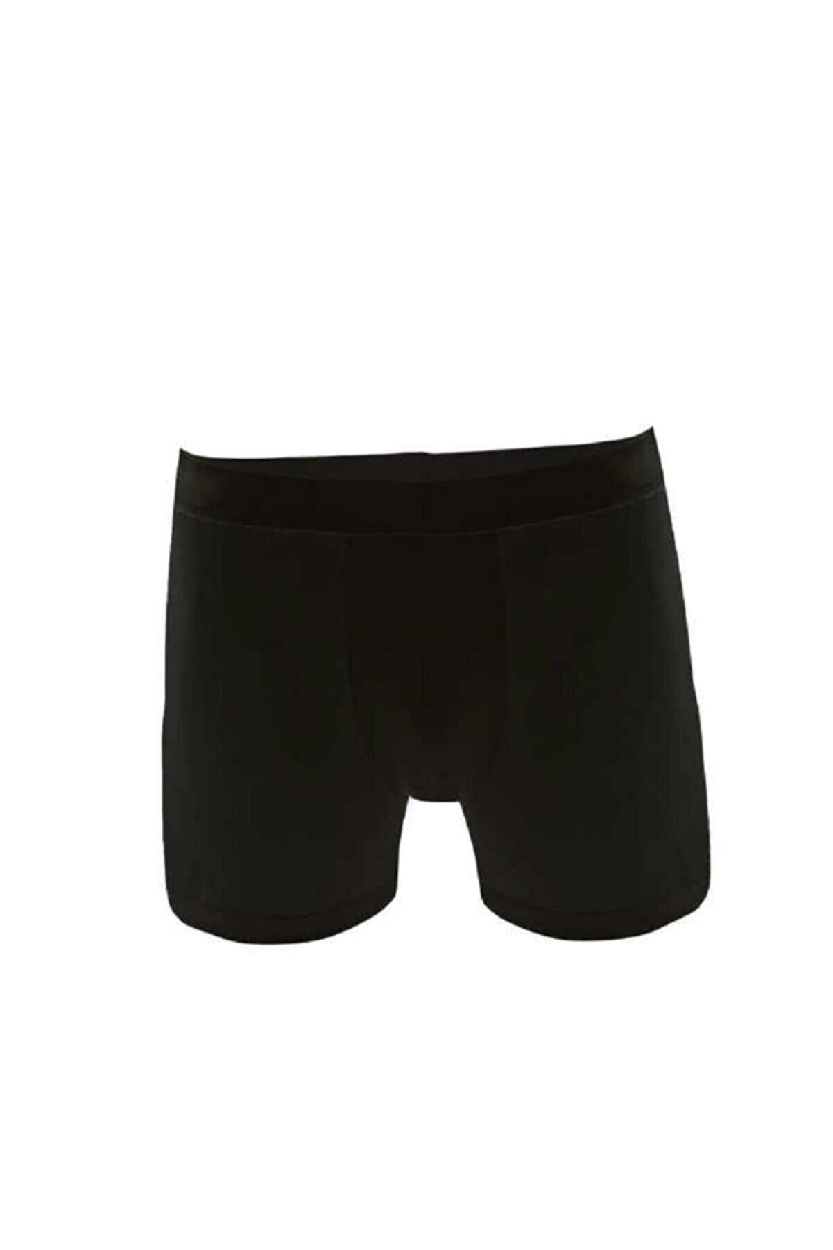 Tutku Elit Erkek 6'lı Modal - Pamuk (Esnek) Slim Fit Boxer (Siyah)