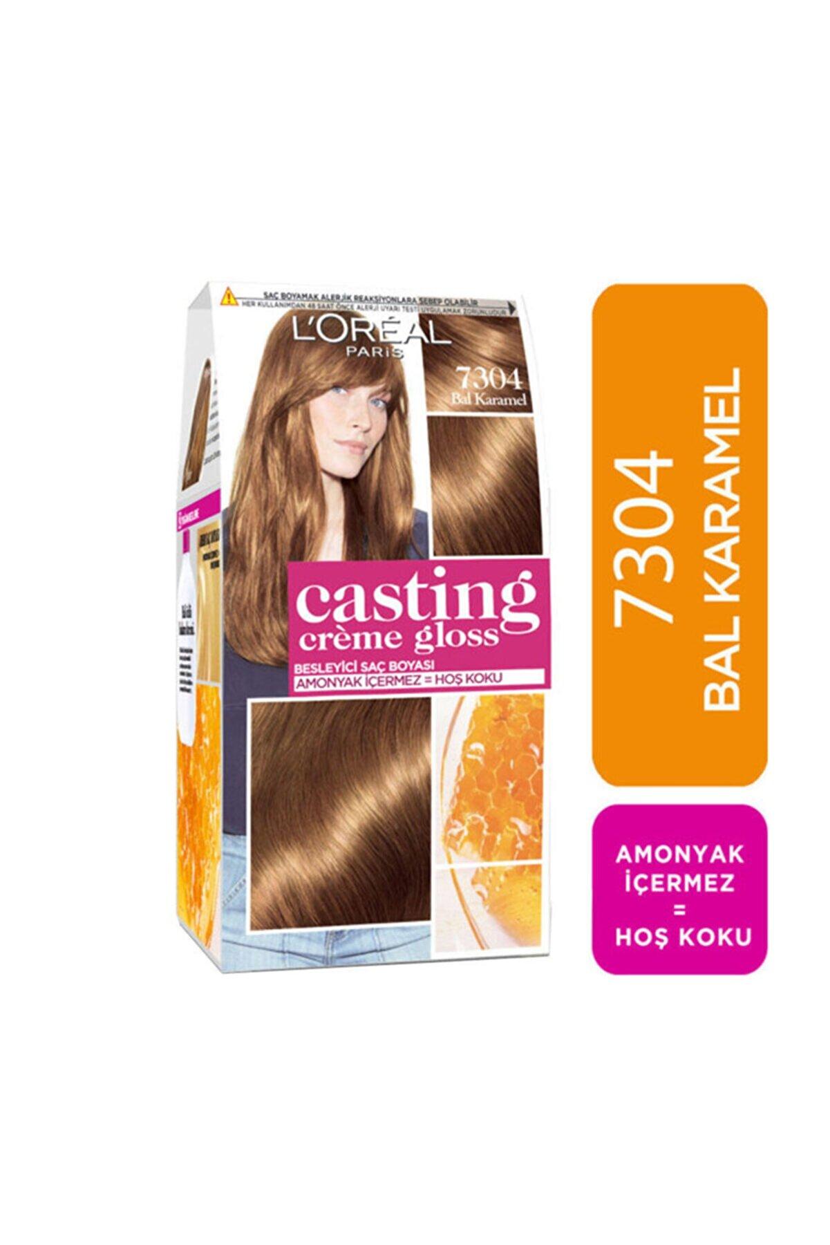 L'Oreal Paris Saç Boyası - Casting Creme Gloss 7304 Bal Karamel 3600523302871