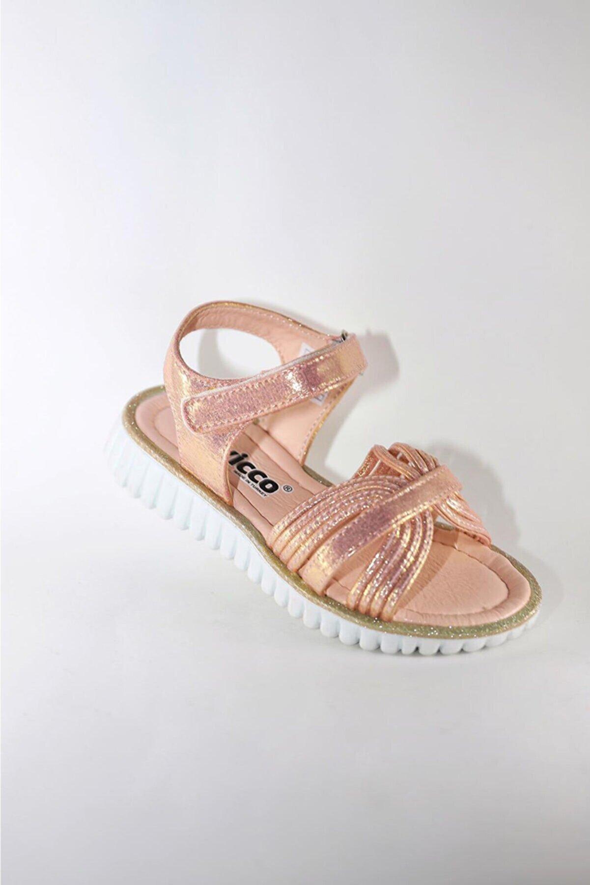 Vicco Pudra Parlak Frappe Model Kız Çocuk Sandalet