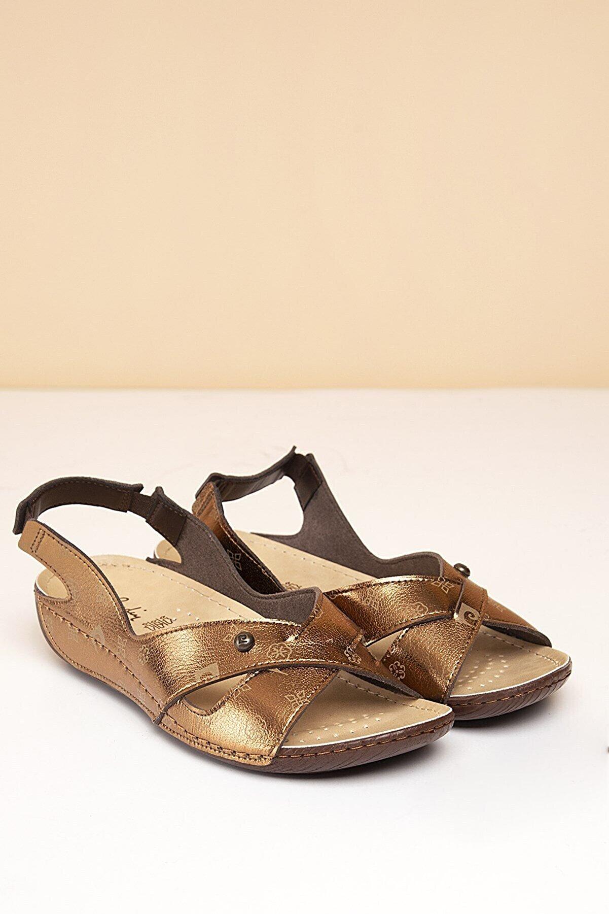 Pierre Cardin Pc-1361 Bronz-bej Kadın Sandalet
