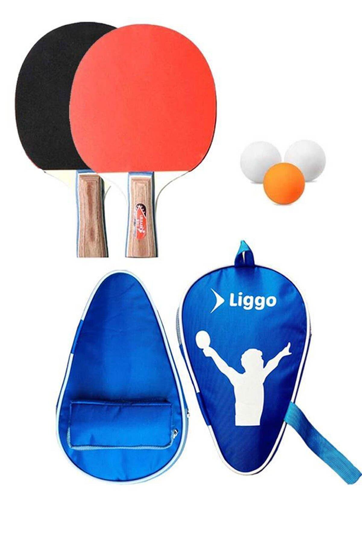 Liggo Masa Tenisi Raketi Seti 2 Raket 3 Top Taşıma Çantası Hediyeli