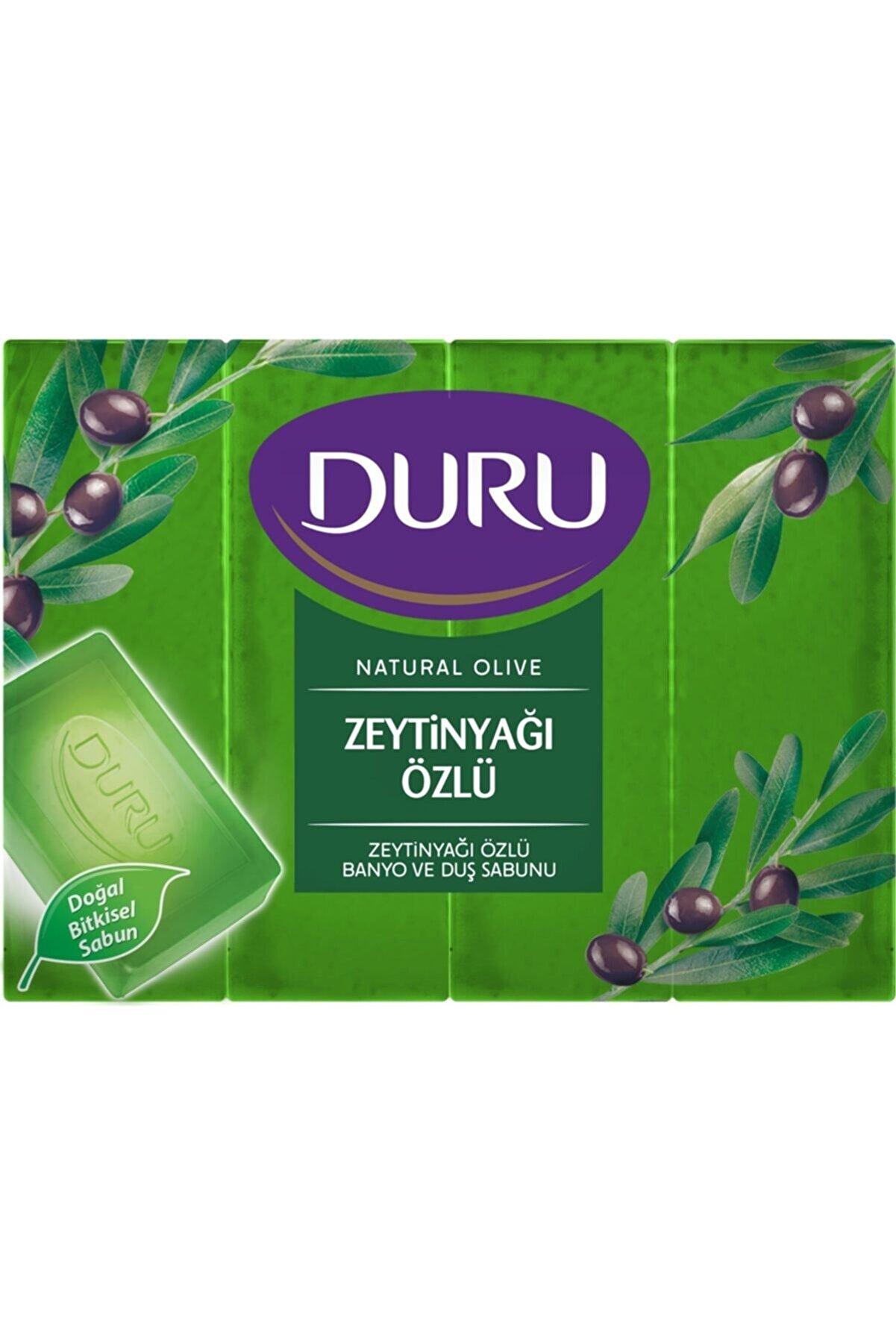 Duru Natural Olive Zeytinyağlı 4 Adet Banyo Sabunu 600 gr