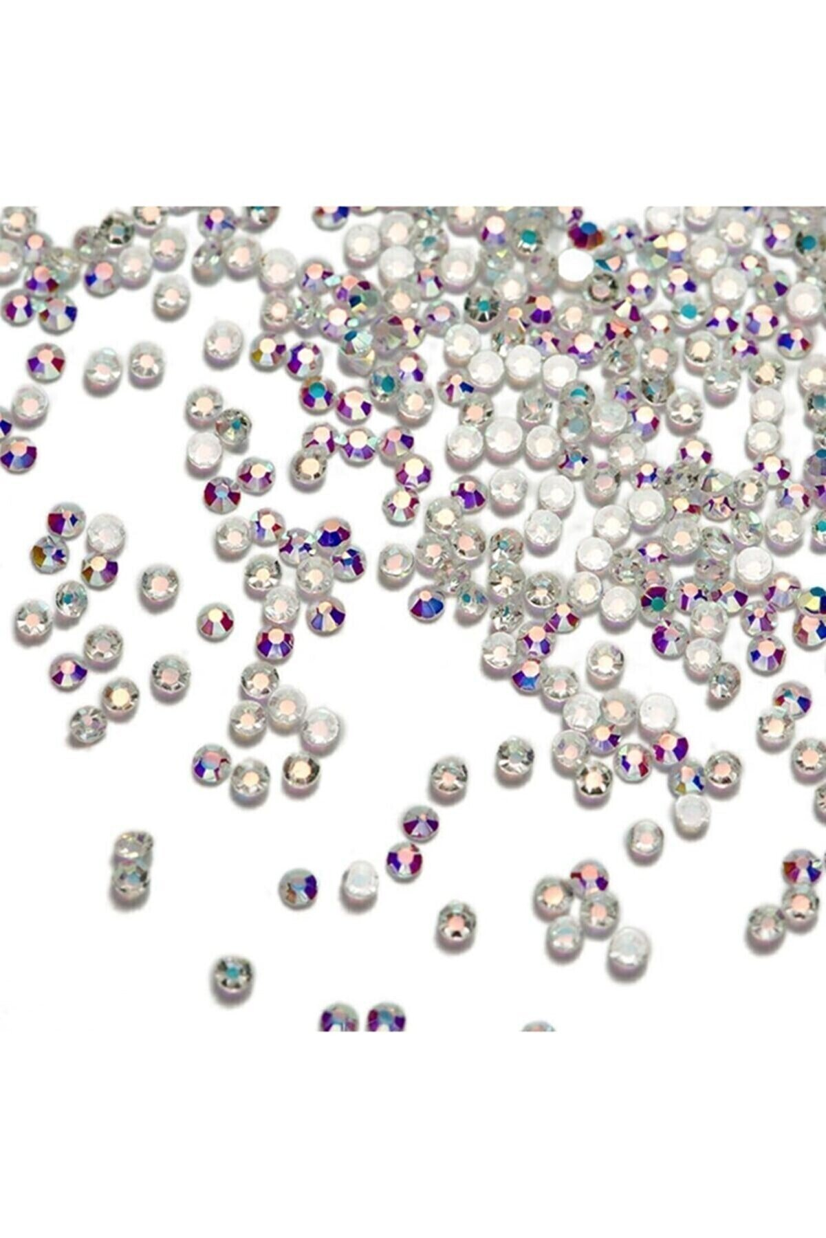 tnl shop Kadın   Professional Kristal Taş Beyaz 50 Adet No 5