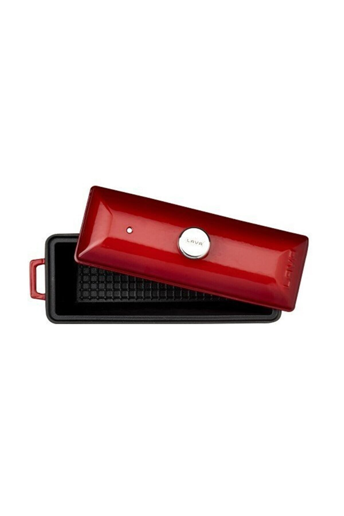 Lava Ekmek Kabı / Terrine. Ölçü 11x29cm. - Kırmızı