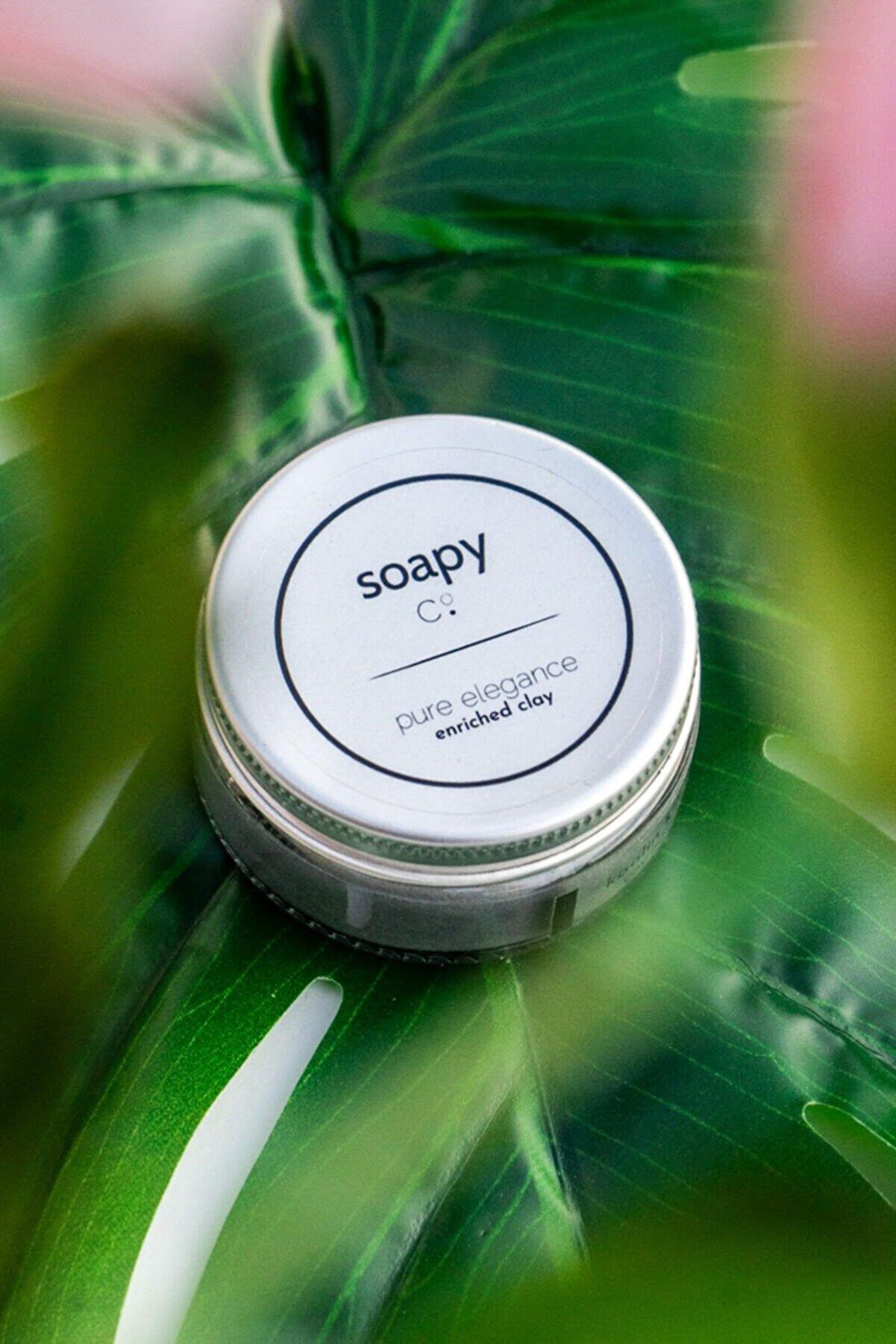 Soapy Co Pure Elegance Cleansing Kil Maskesi - Peeling Maskesi 50 ml - Yağlı Ciltler - Vegan