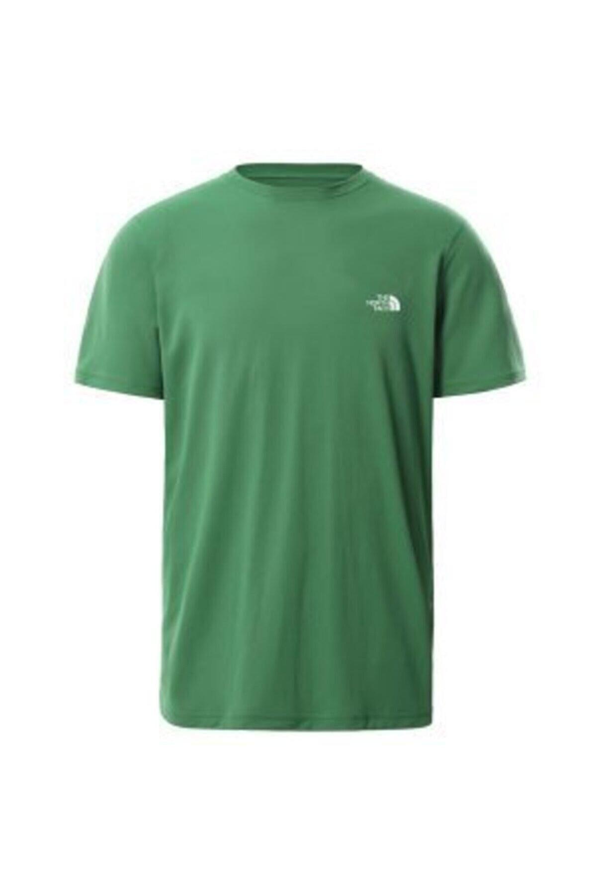 The North Face M New Basic Left Chest Logo Tee - Eu Erkek Yeşil Tshirt Nf0a55axeu21