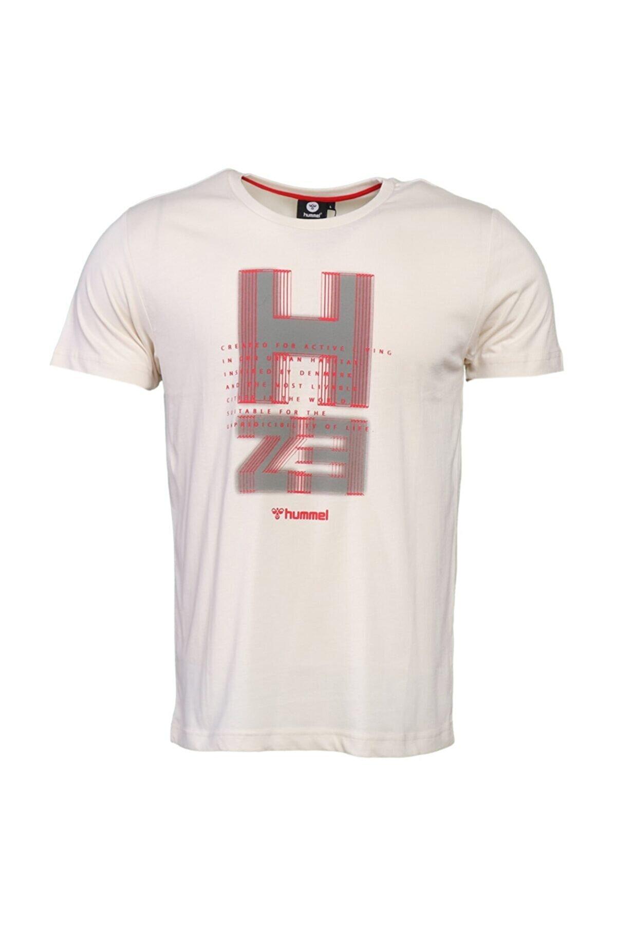 HUMMEL Erkek Kırmızı Baskılı  T-shirt
