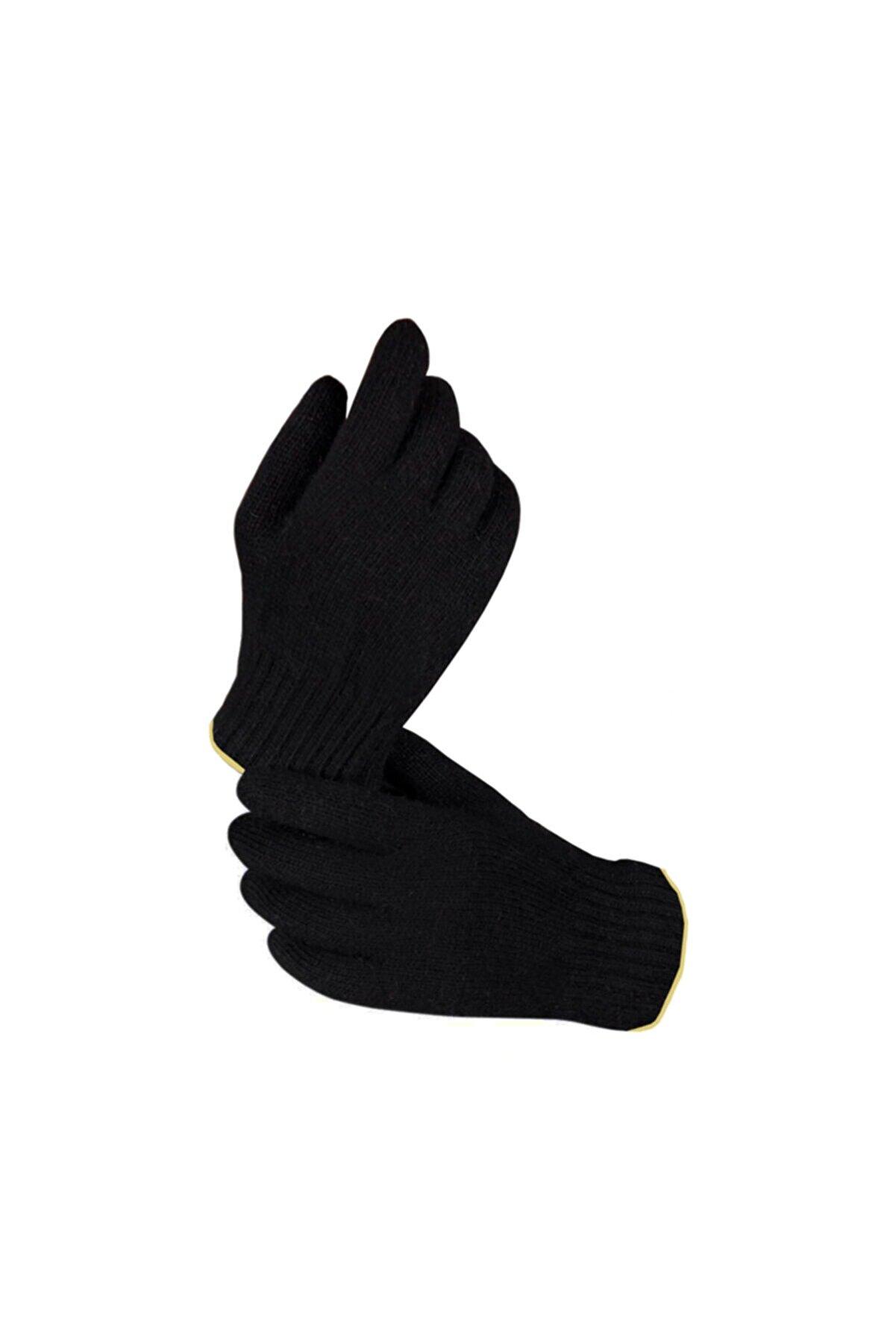 BURİŞ Siyah Kışlık Örgü Unisex Eldiven Xl (10) Beden
