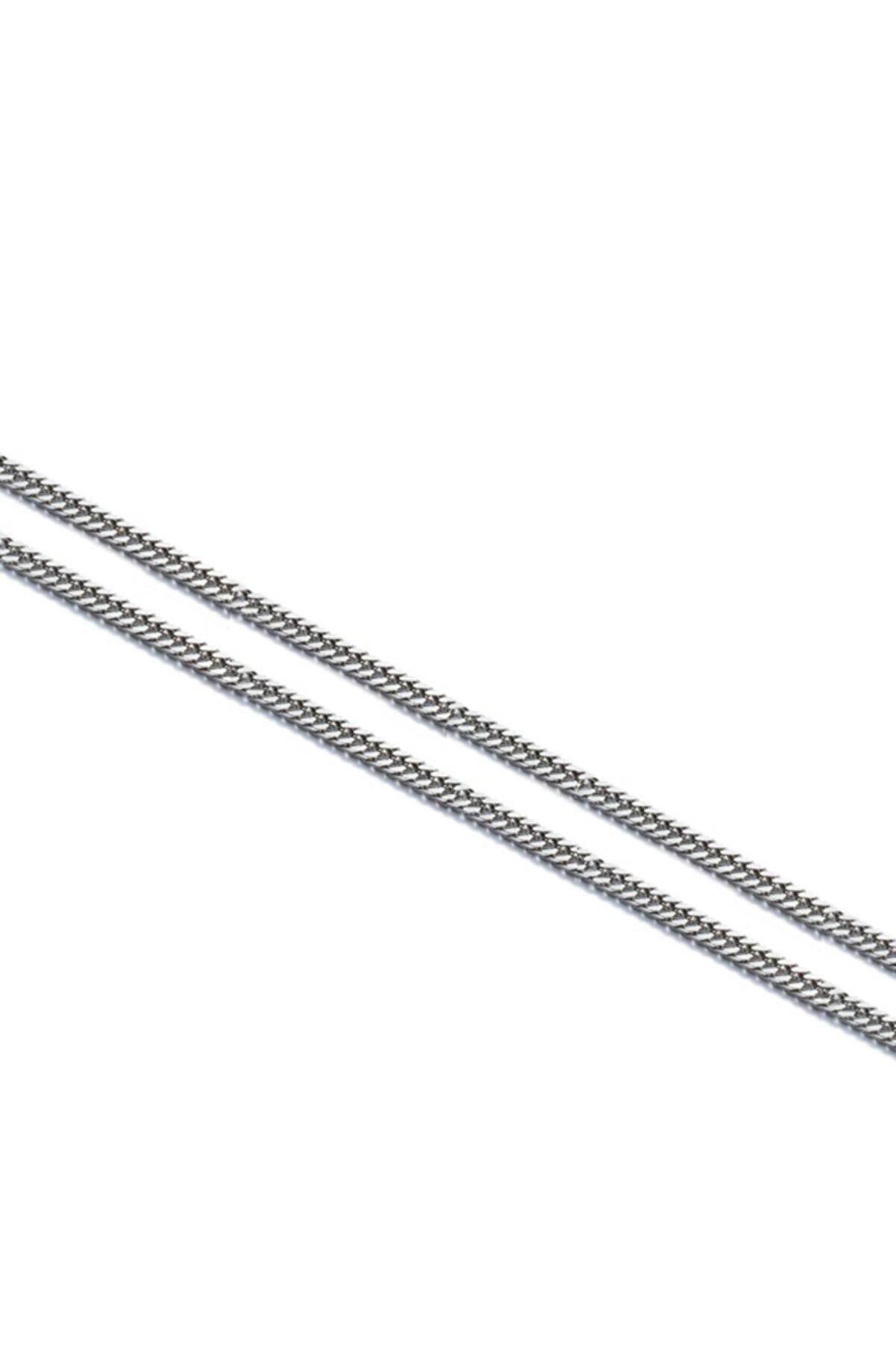 Chavin Gri 60 Cm. 4 Mm. Traşlı Gürmet Erkek Çelik Zincir Dm90-4