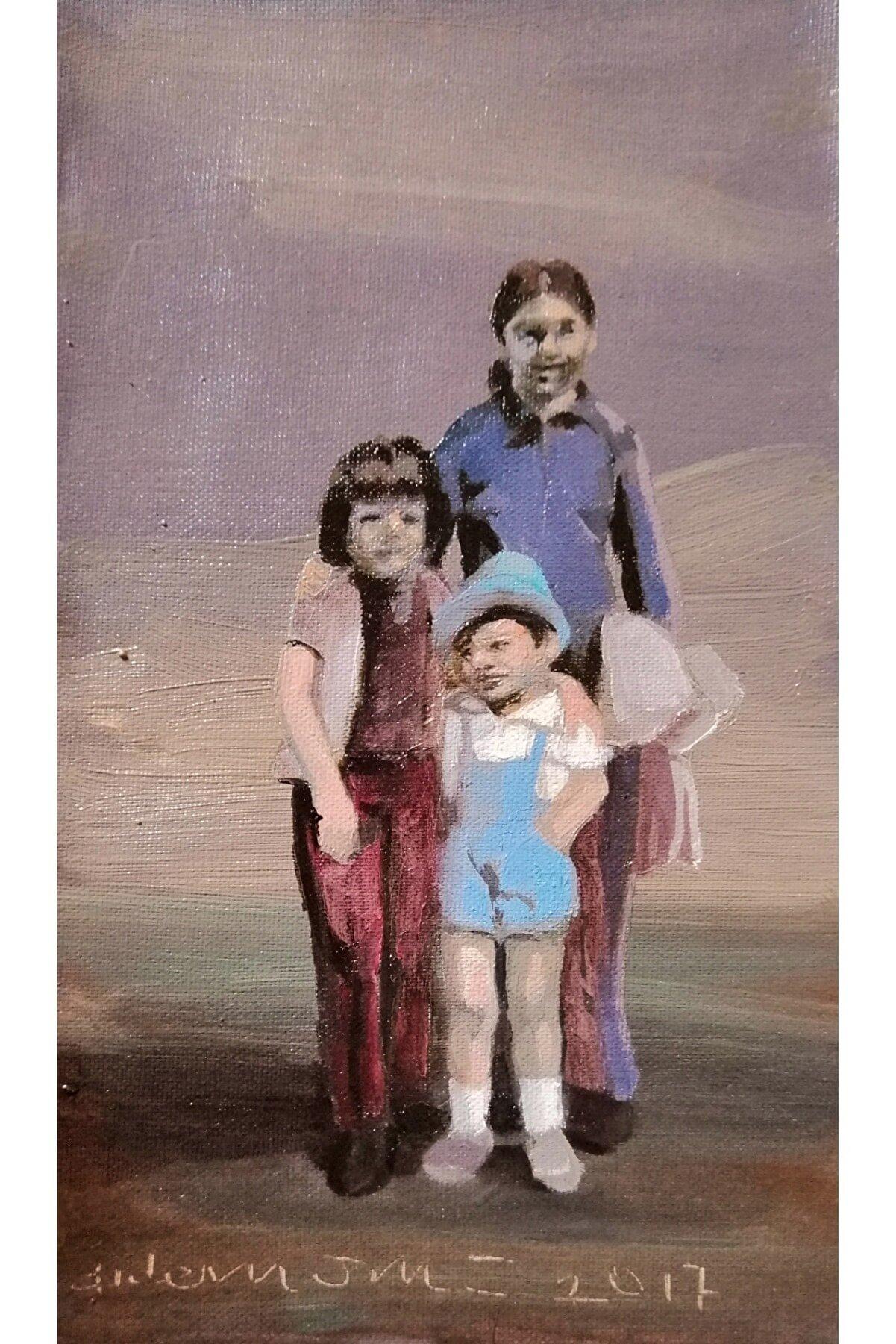 Didem Ünlü Bizim Çocuklar, 15x27, Press Tuval Üzerine Yağlı Boya