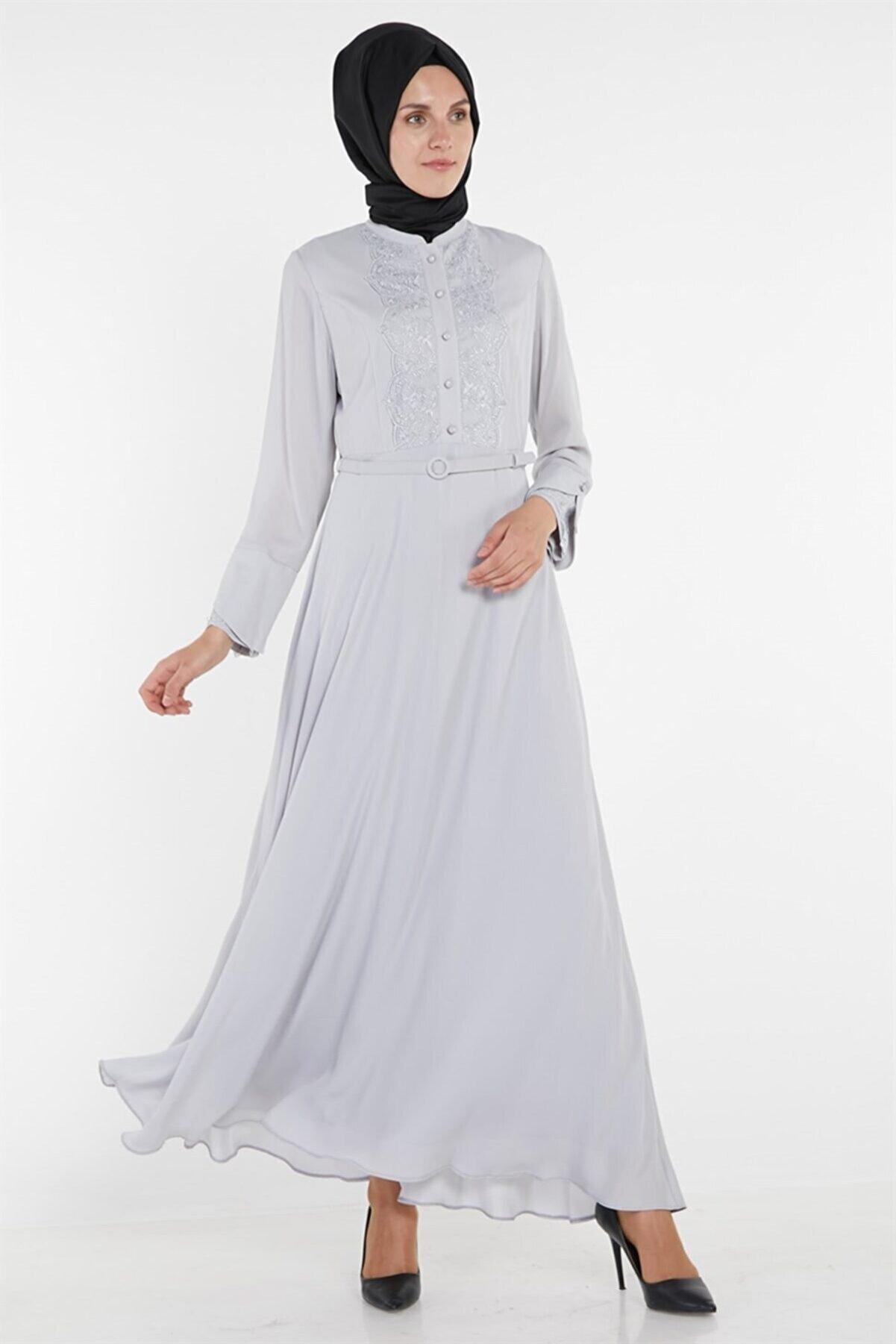 Armine Elbise 19yra919 Gri
