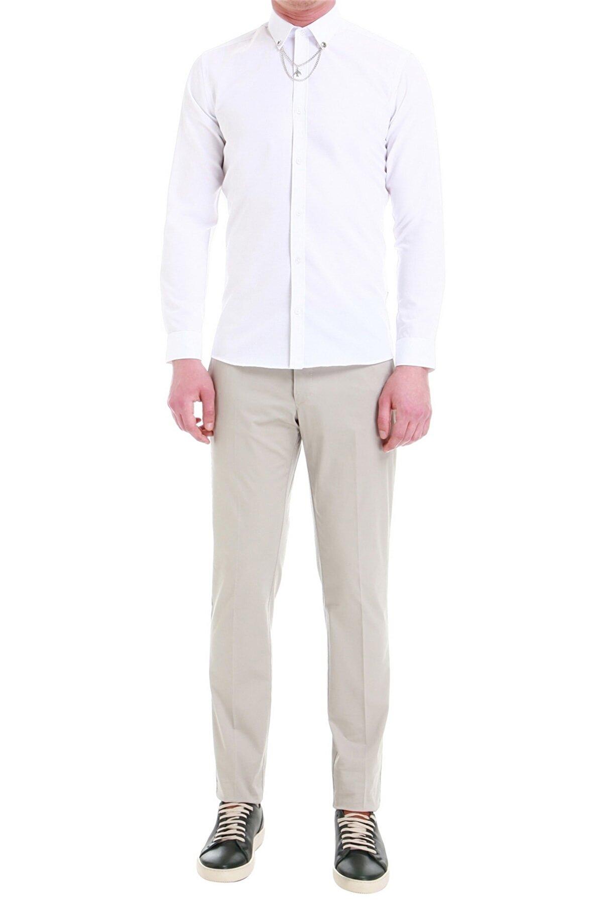 Efor P 1058 Slim Fit Stone Spor Pantolon