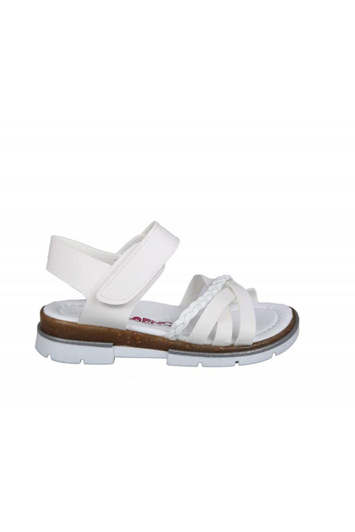 Şirin Bebe 201-4 (31-36 Arası) Ortopedik Beyaz Çocuk Sandalet