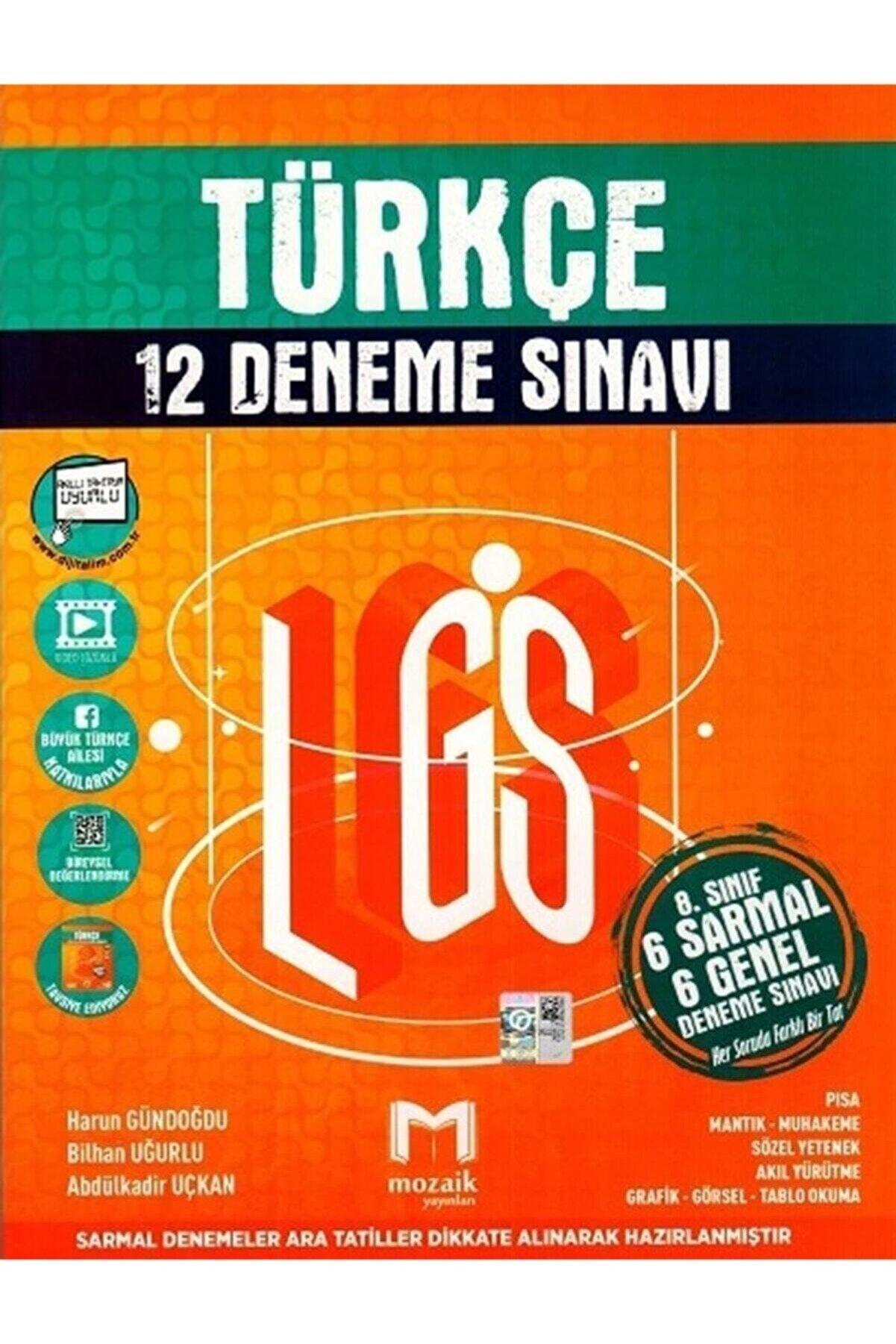 DIGERUI 8. Sınıf Lgs Türkçe 12 Li Deneme Sınavı Mozaik Yayınları
