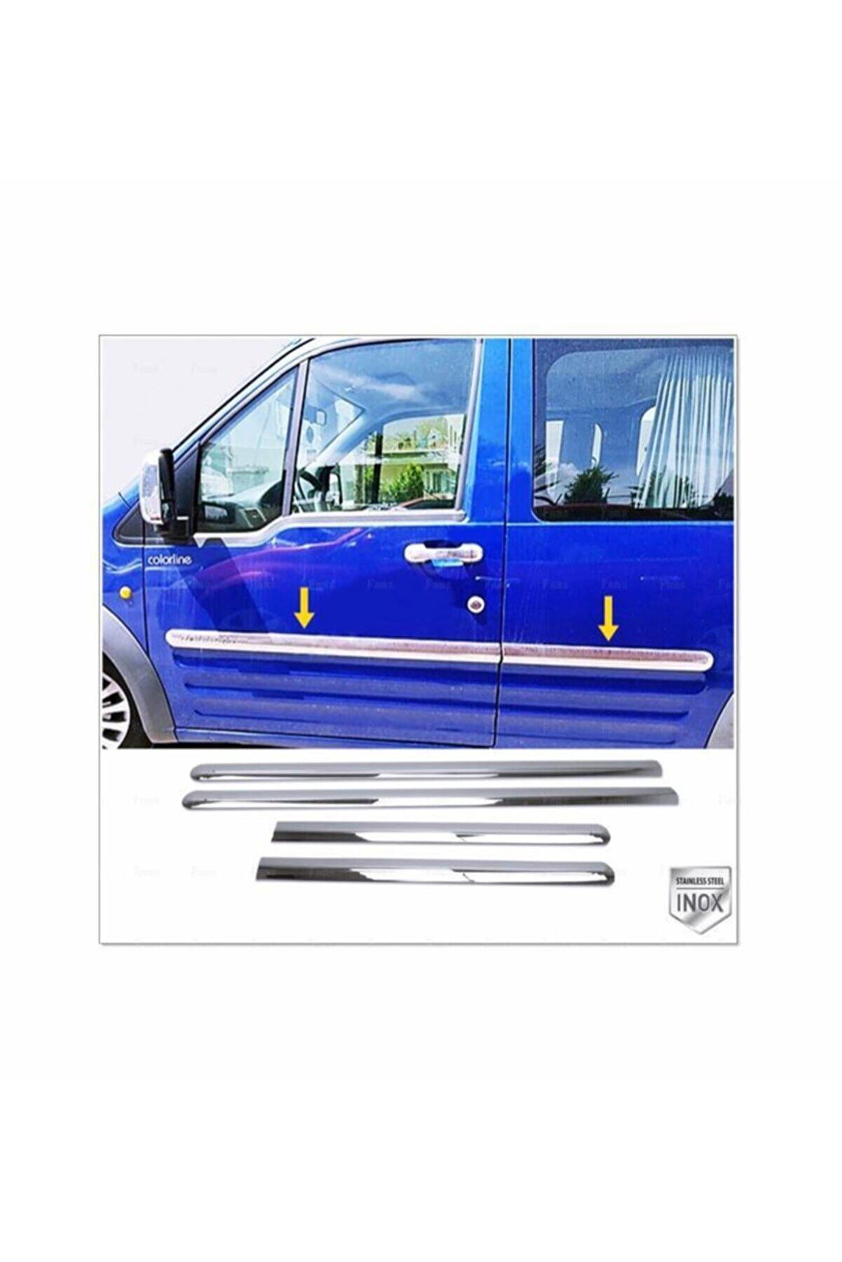 FAMS OTO AKSESUAR Ford Connect Krom Yan Kapı Çıtası 4 Kapı 2002-2014 P. Çelik