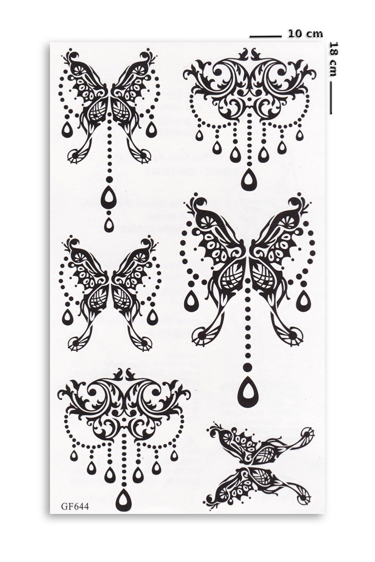 BP Tattoo Gotik Kelebek Dövmesi