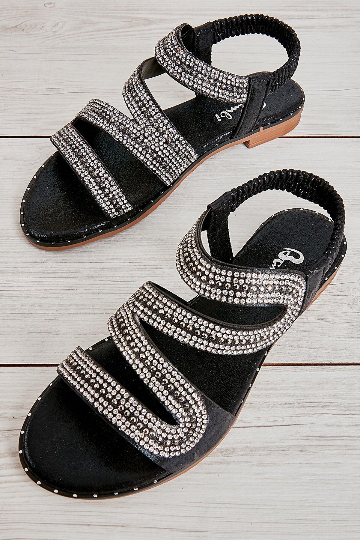 Bambi Siyah Kadın Sandalet L0512019178