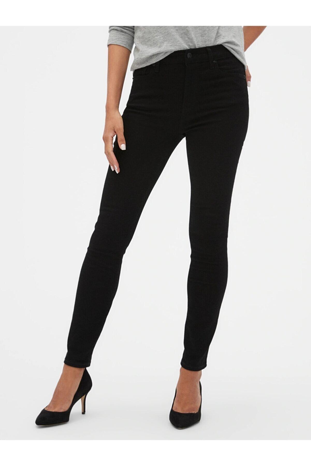 GAP Kadın Siyah High Rise Legging Jean Pantolon