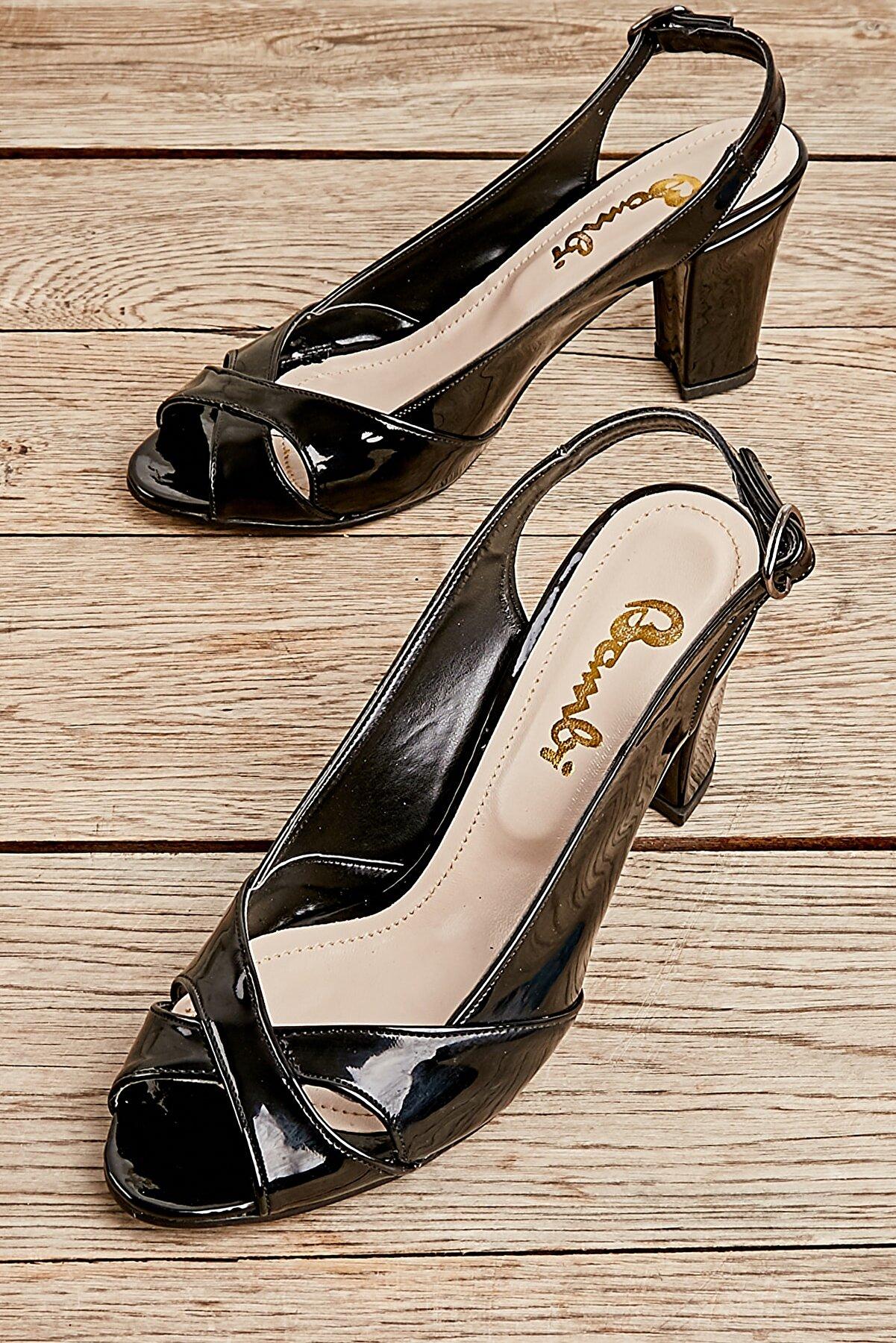 Bambi Sıyah Kadın Açık Ayakkabı L0708333398