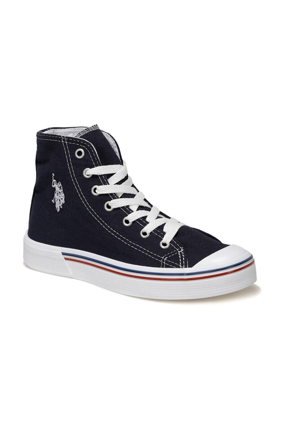 US Polo Assn PENELOPE HIGH 1FX Lacivert Kadın Havuz Taban Sneaker 100910635