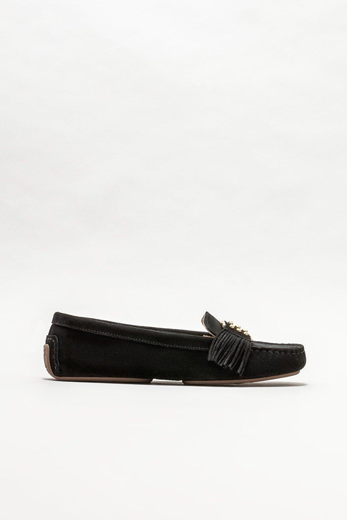 Elle Kadın Siyah Deri Günlük Loafer Ayakkabı