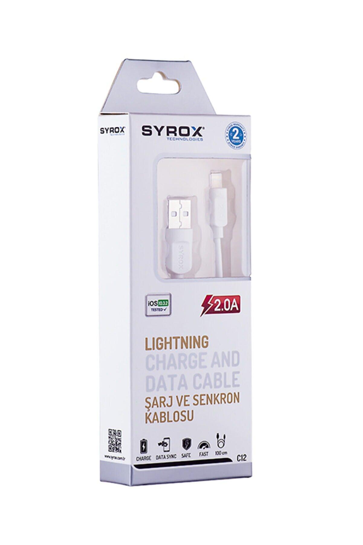 Syrox C-12 Iphone Lıghtning 2,0a Usb Kablo