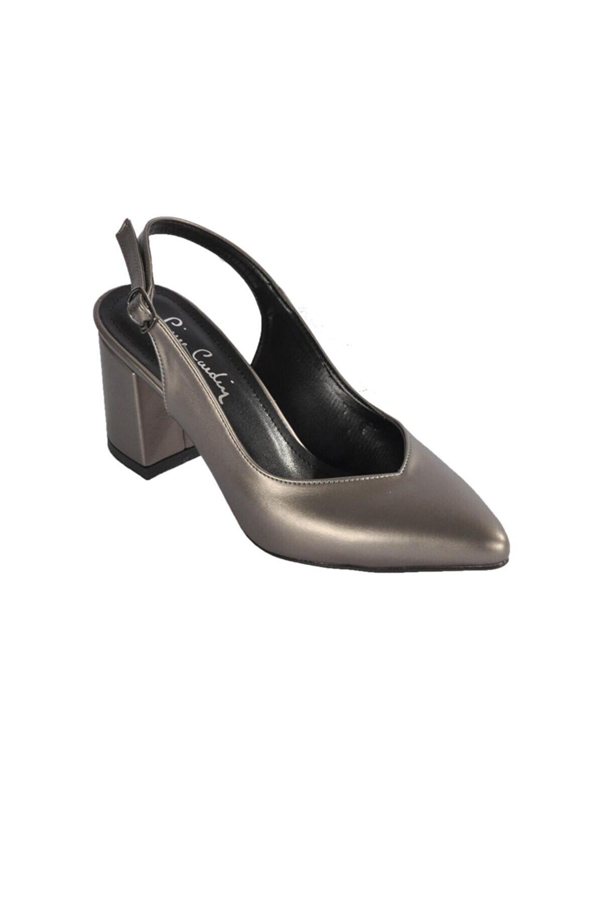 Pierre Cardin Kadın Platin  Topuklu Ayakkabı Pc-50173