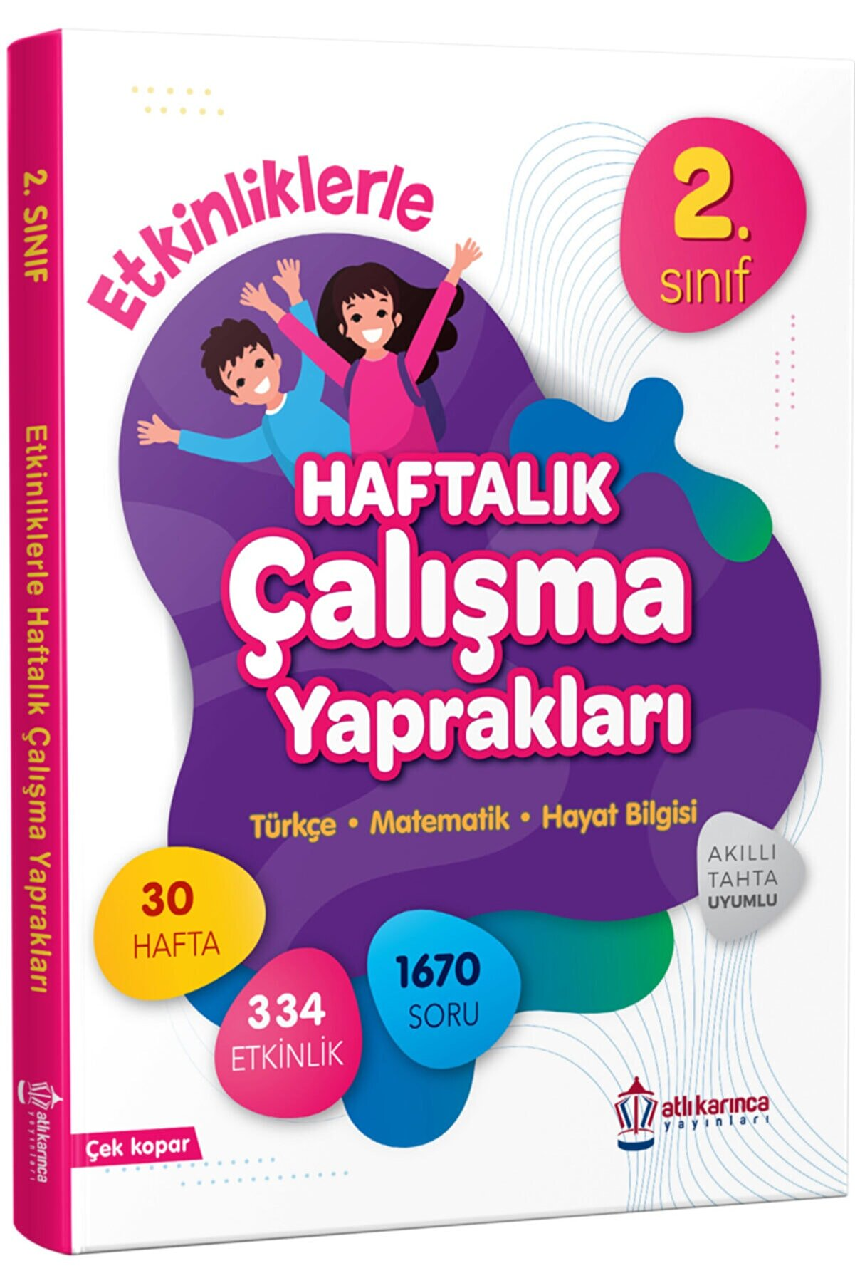 ATLIKARINCA YAYINLARI 2.sınıf Etkinliklerle Haftalık Çalışma Yaprakları Türkçe Matematik Hayat Bilgisi Tüm Dersler Ödev