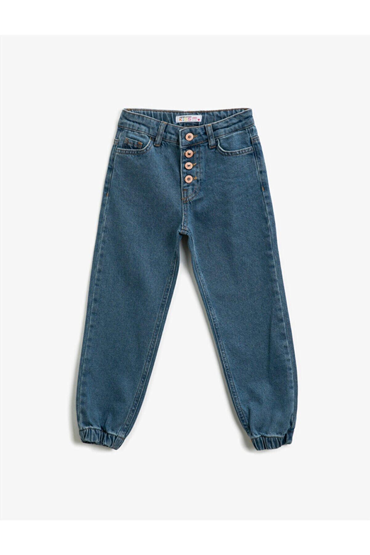 Koton Kız Çocuk Orta Indigo Jeans