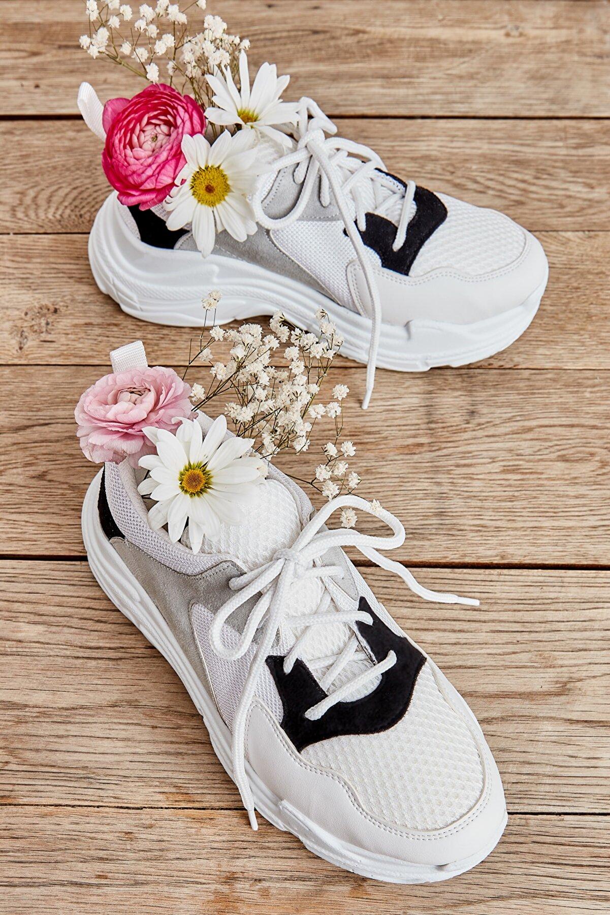 Bambi Gri Kadın Sneaker L05093200