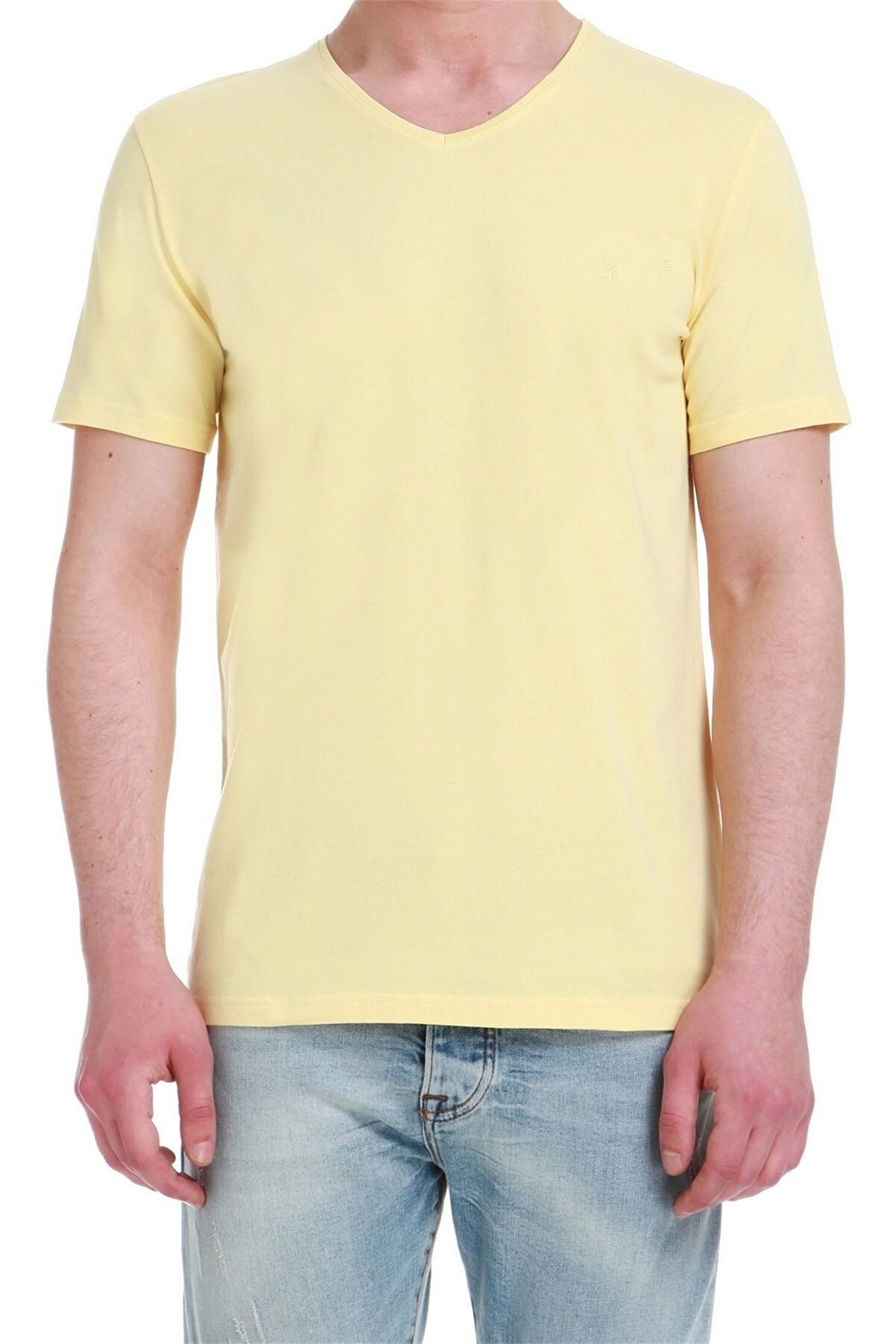 Efor Ts 740 Slim Fit Sarı Spor T-shirt