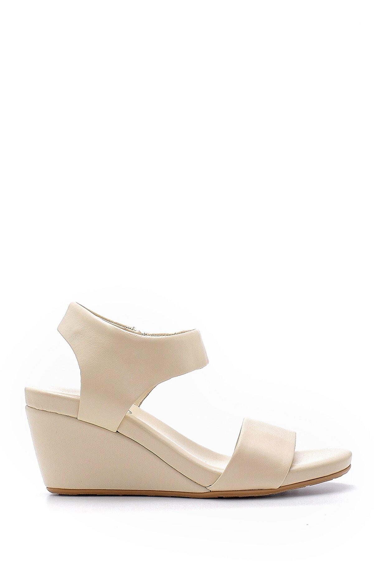 Derimod Kadın Deri Dolgu Topuklu Sandalet