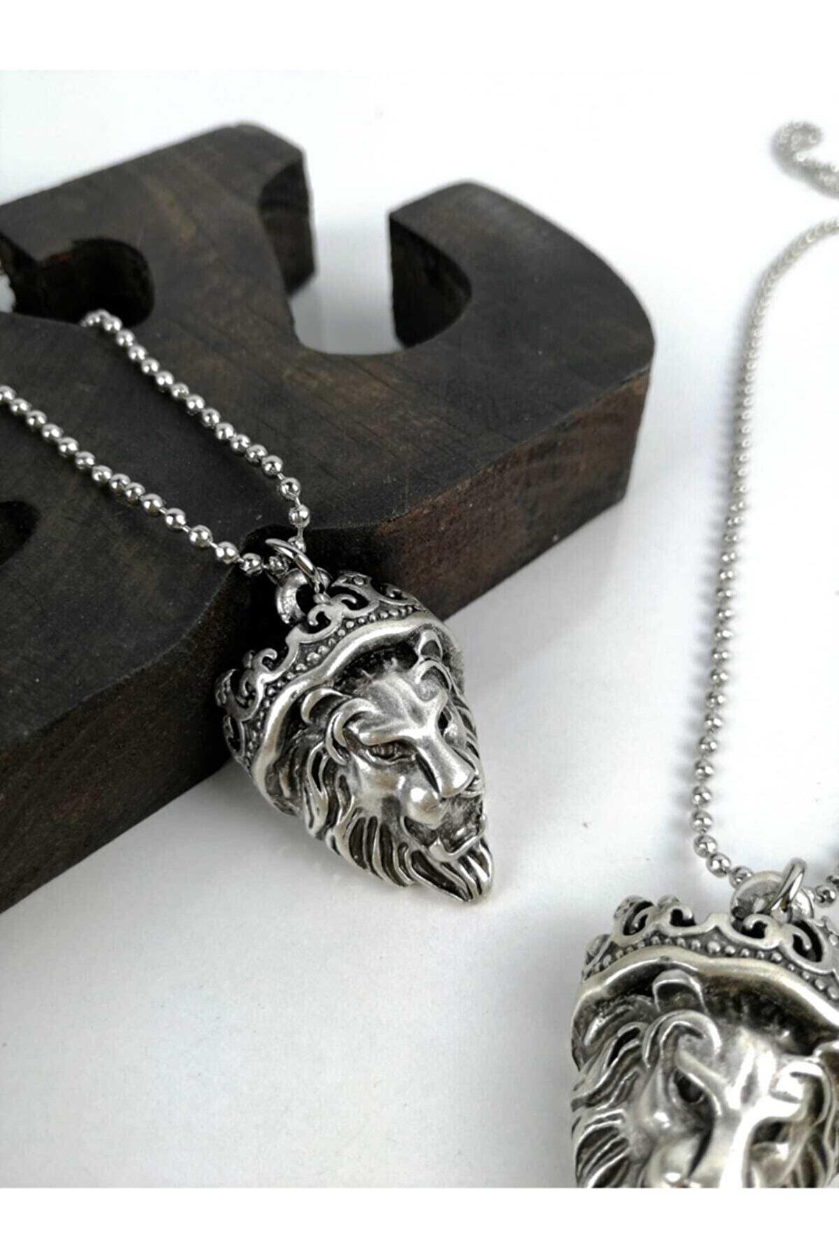 Vatkalimon Kadın Erkek Gümüş Kaplama Kolye