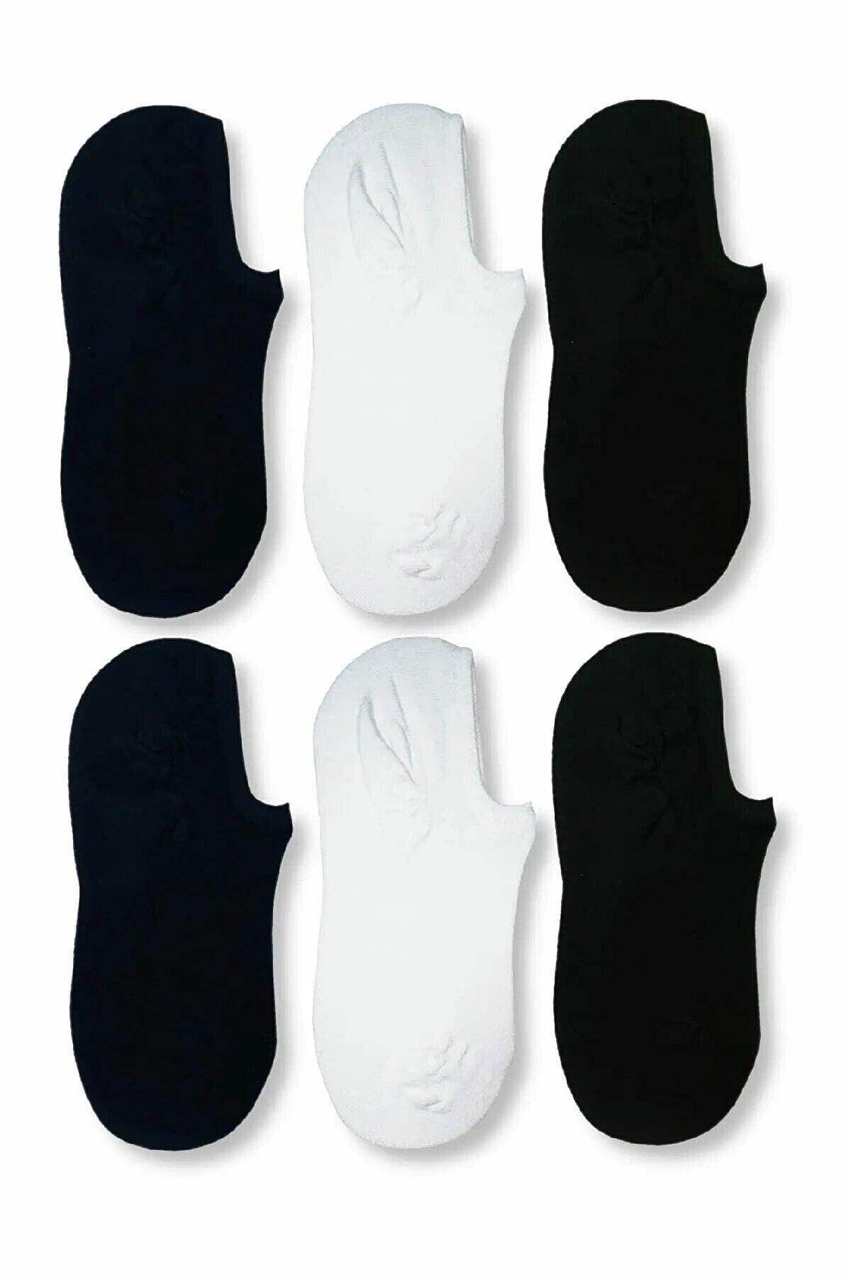 Carrier Plus 6 Çift Kadın Siyah Bambu Görünmez (Sneaker) Spor Ayakkabı Çorabı